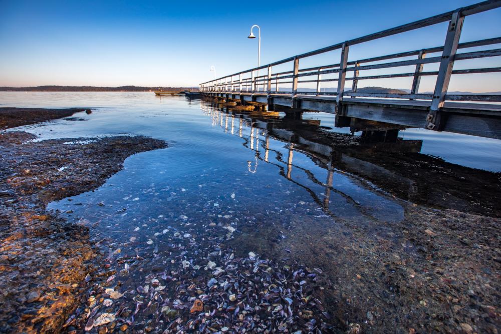 Jetty at Murrays Beach Lake Macquarie New South Wales, Australia