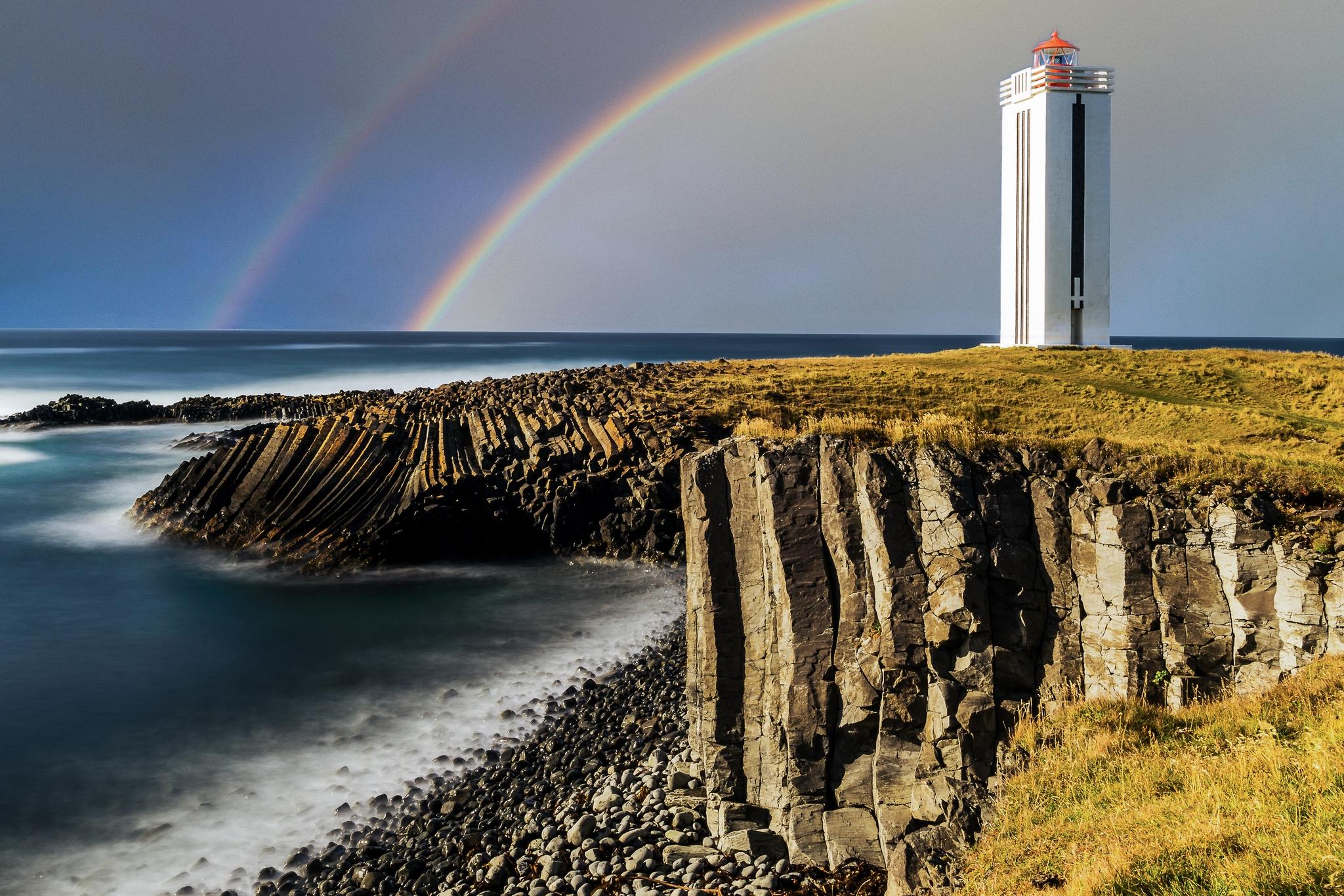 Kalfshamarsvik lighthouse, Iceland