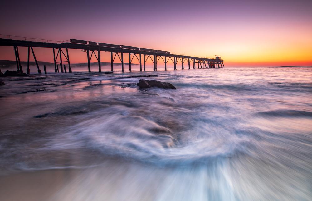 Katherine Hill Bay jetty sunrise New South Wales, Australia