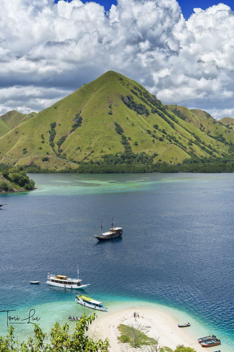 Kelor Island with Tugas Island View, Indonesia