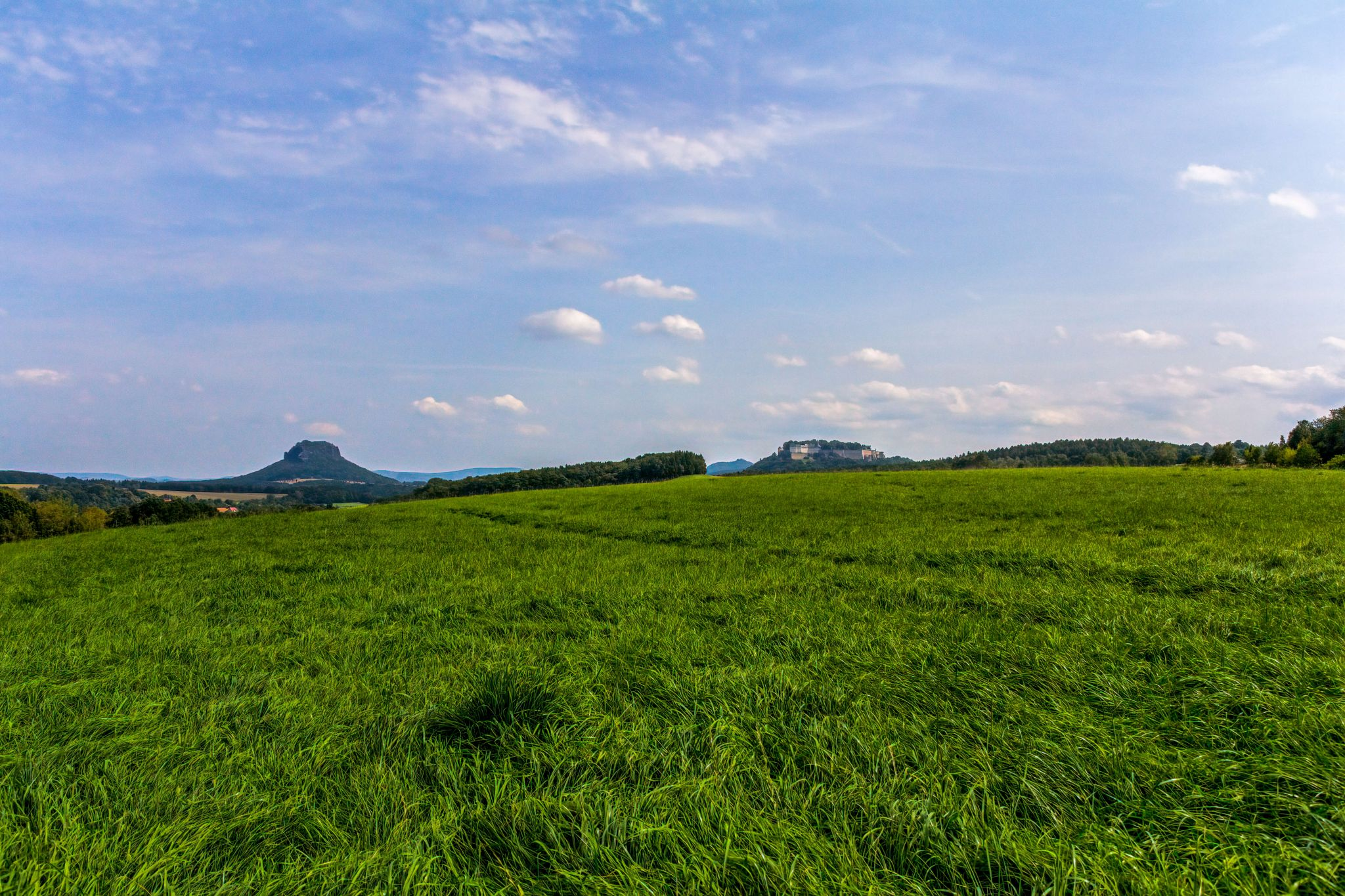 Koenigstein Fortress and the Lilienstein, Germany