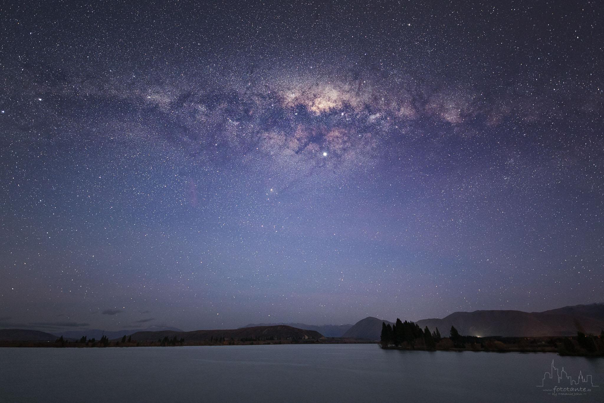 Milky way at Lake Ruataniwha, Ben Ohau, NZ, New Zealand