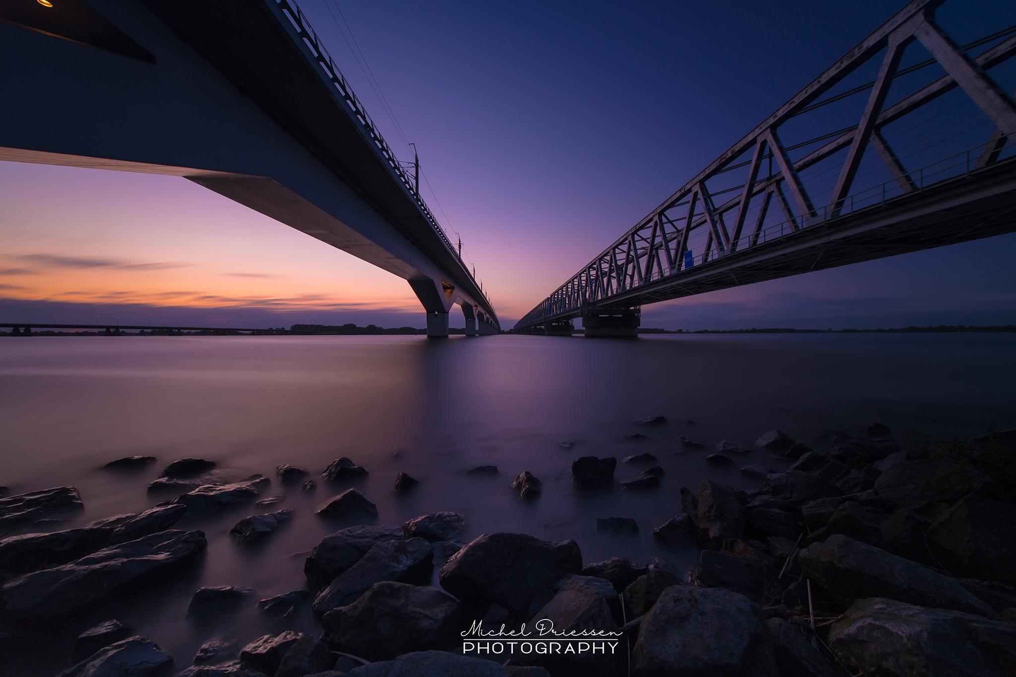 Moerdijk train bridges, Netherlands