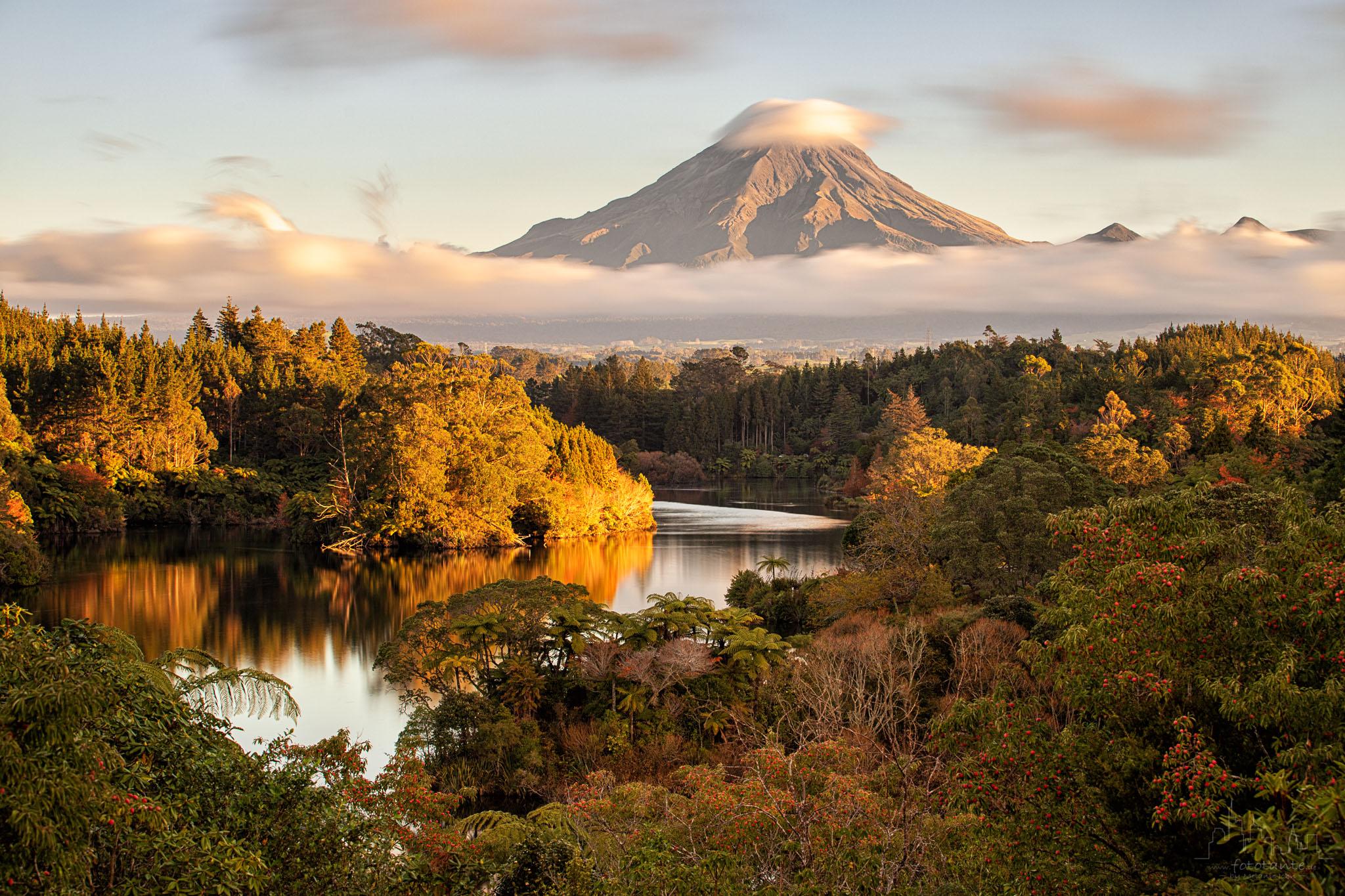 Mount Taranaki view, NZ, New Zealand