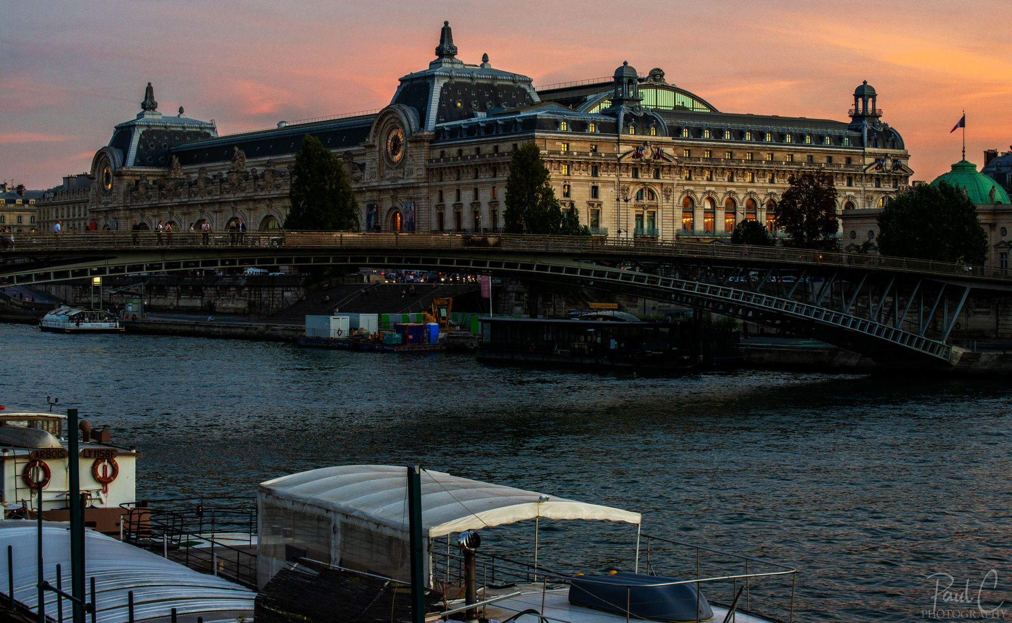 Musee d'Orsay view from the other side of the Seine, France