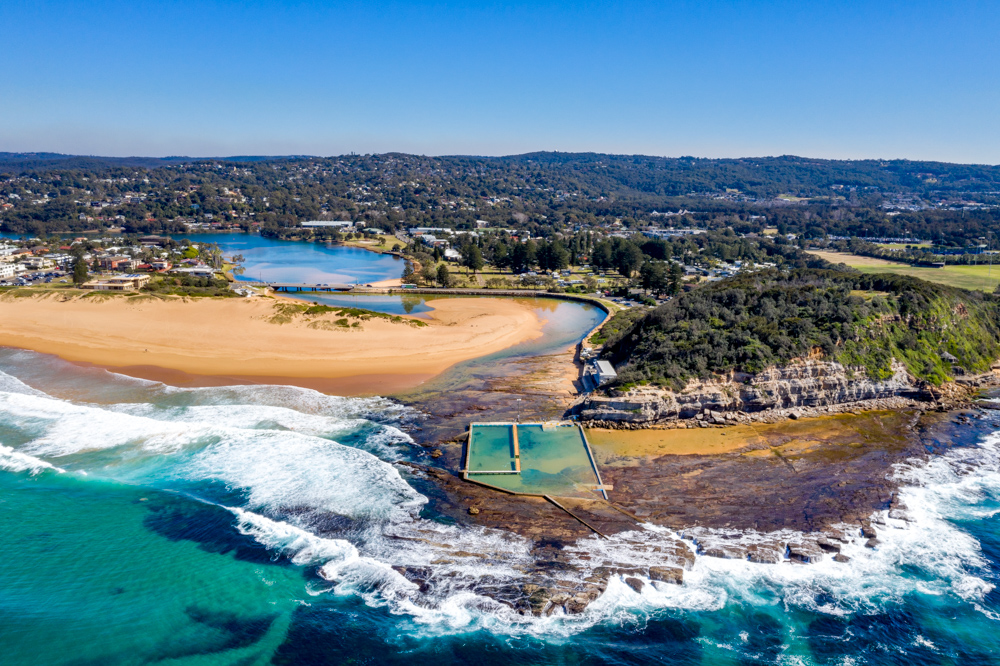 North Narrabeen Ocean Pool Drone Sydney, Australia