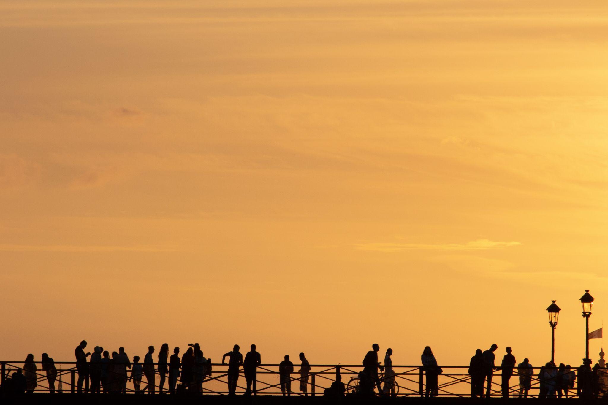 Pont des Arts at sunset, France
