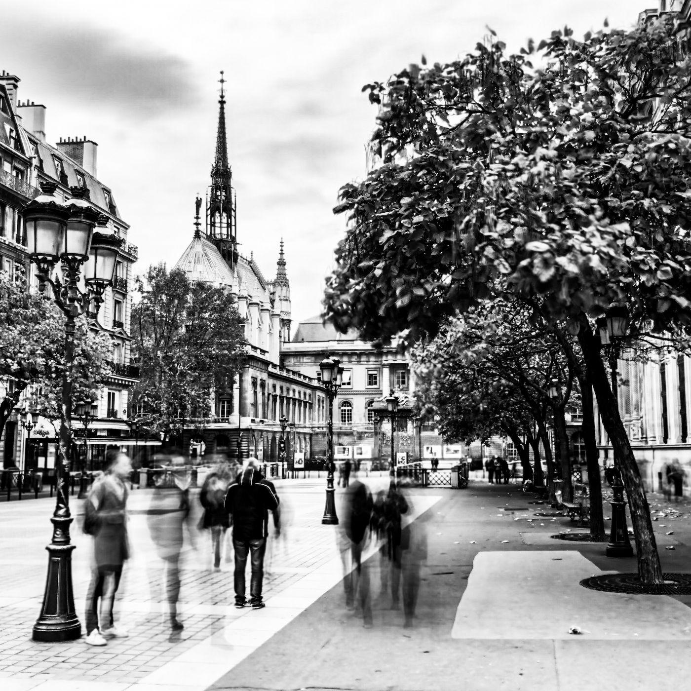 Sainte Chapelle and plaza, France