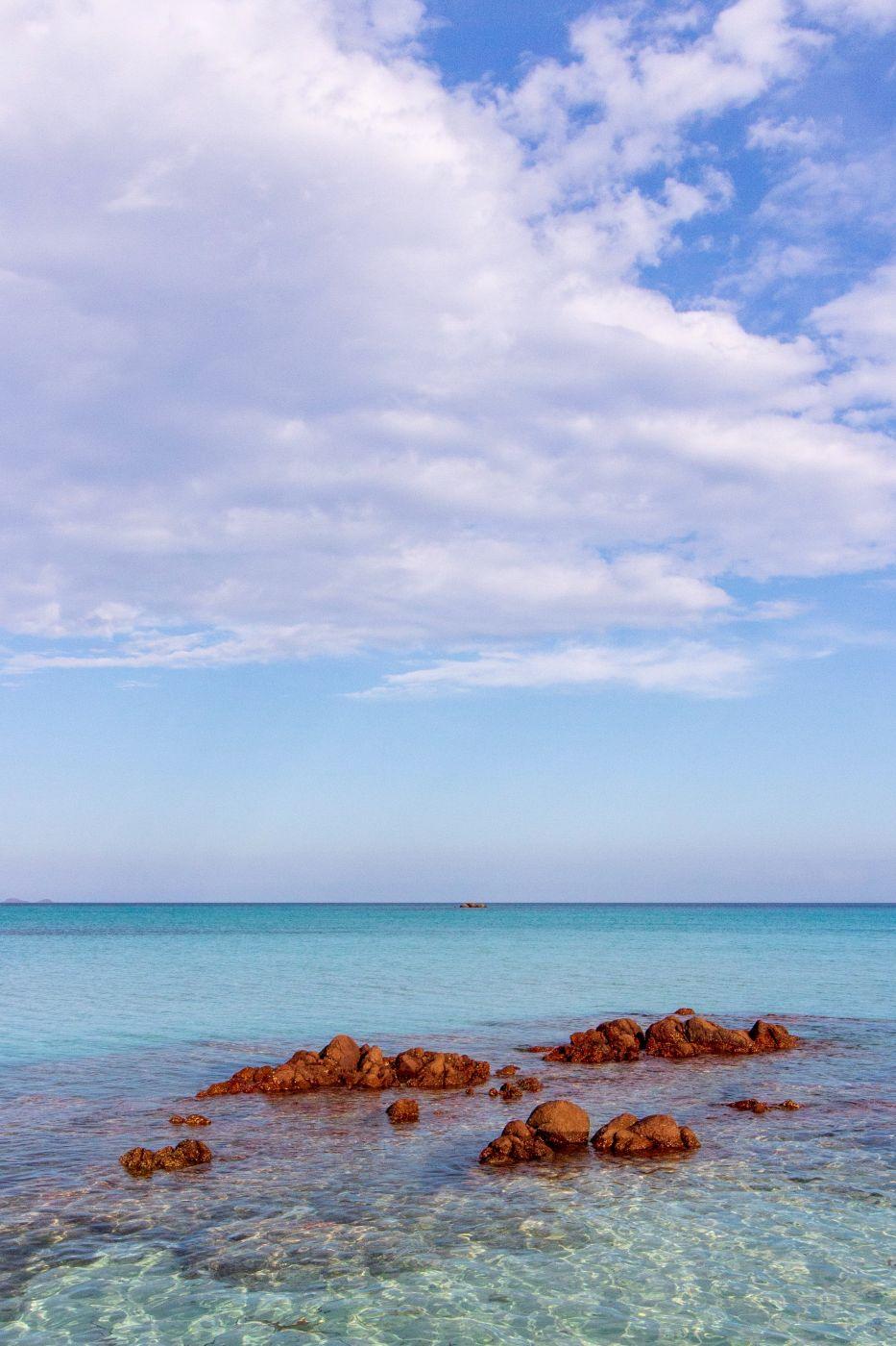 Santa Giulia Beach in Corsica, France