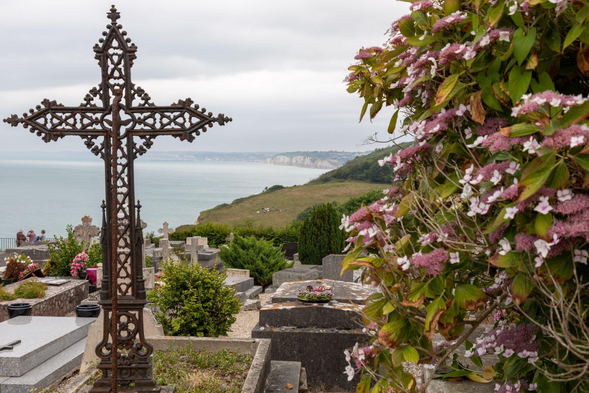 Seemannsfriedhof in der Normandie, France