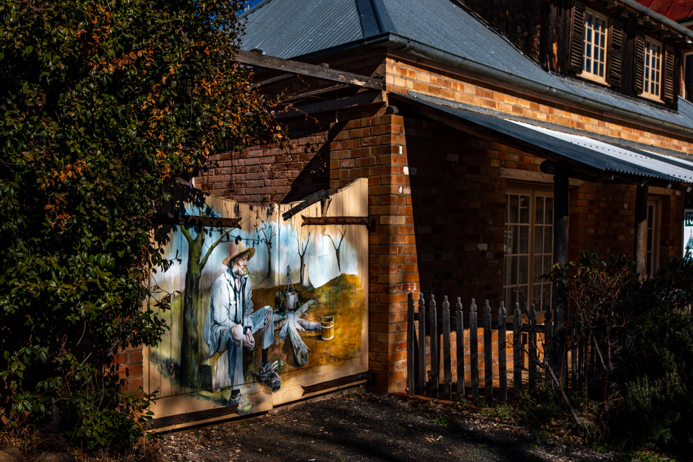 Sofala Old Gold mining town Mural New South Wales, Australia