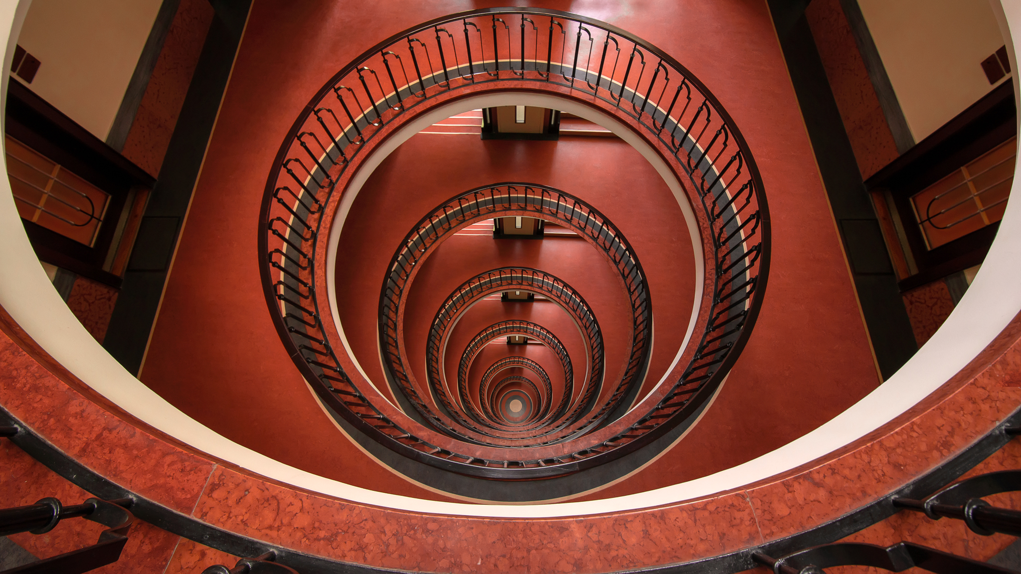 Spiral Staircase in Budapest downtown, Hungary