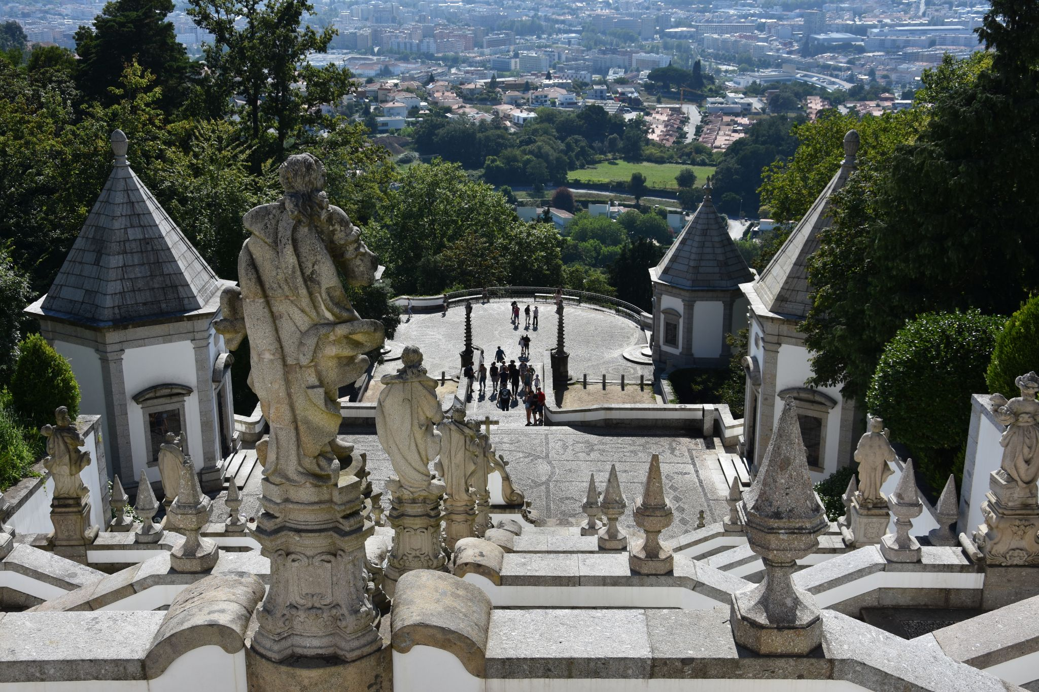 Stairway of Bom Jesus from above, Portugal