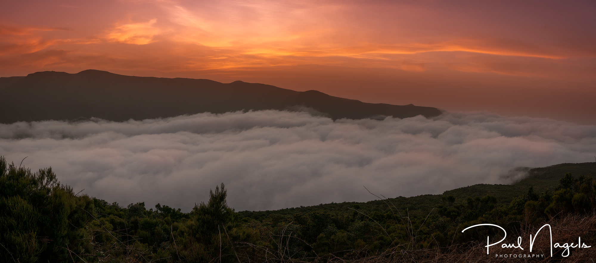 Sunset over the clouds., Portugal