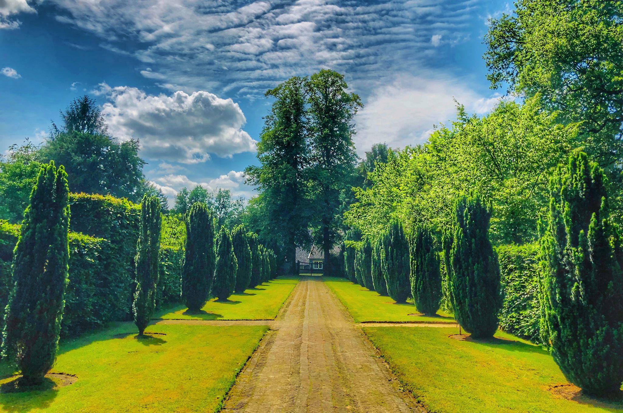 The gardens of Castle De Wiersse, Netherlands