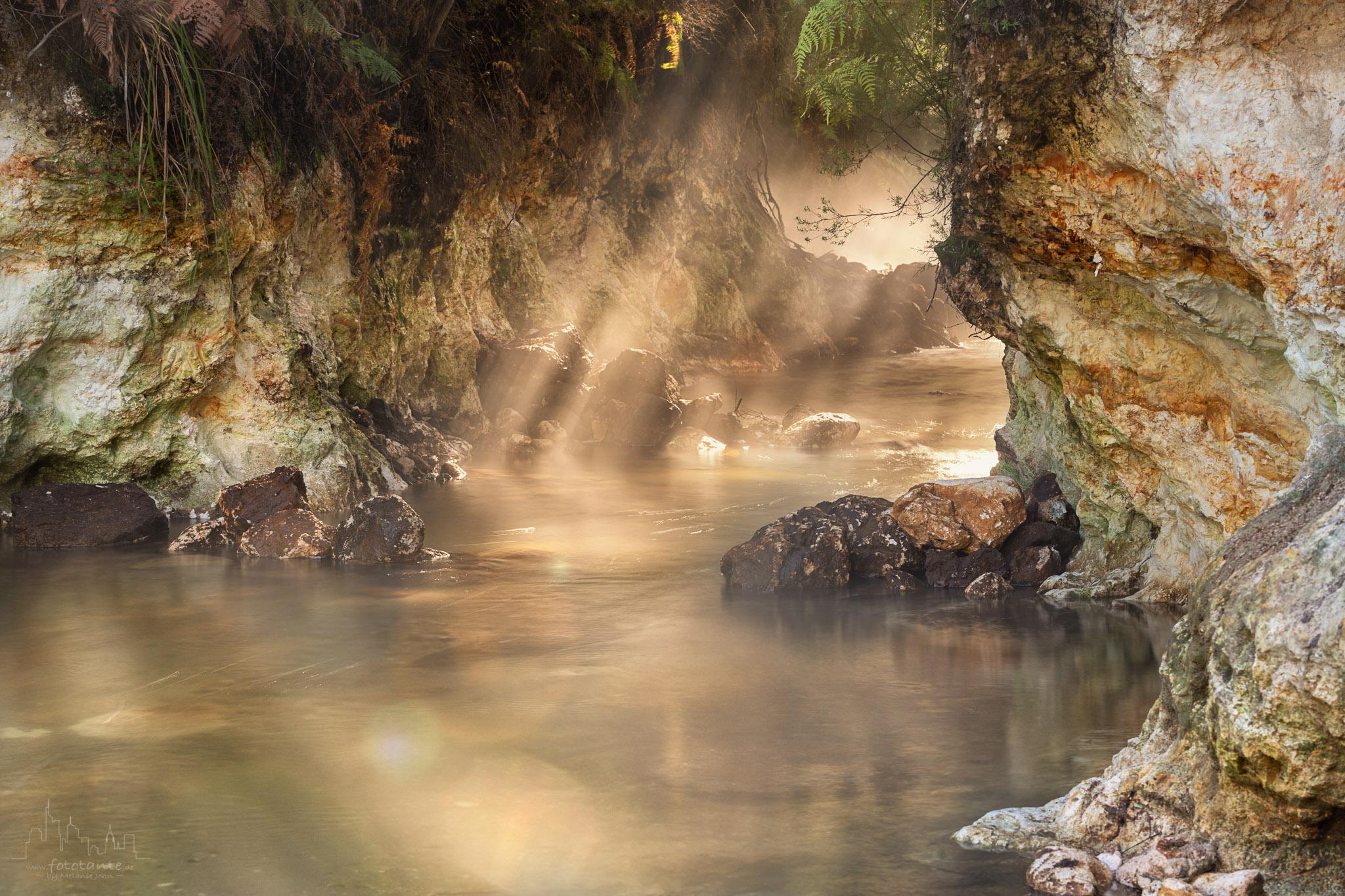 Thermal stream at Waiotapu, NZ, New Zealand