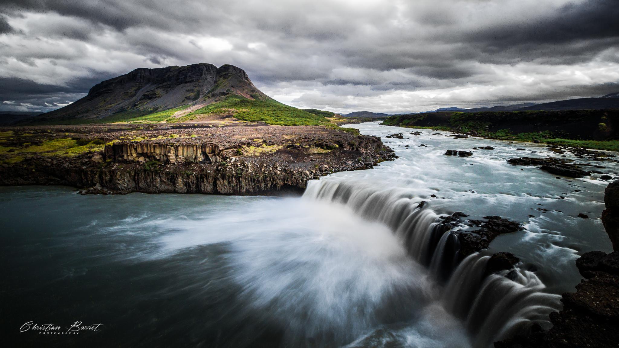 Þjófafoss and Búrfell volcano, Iceland