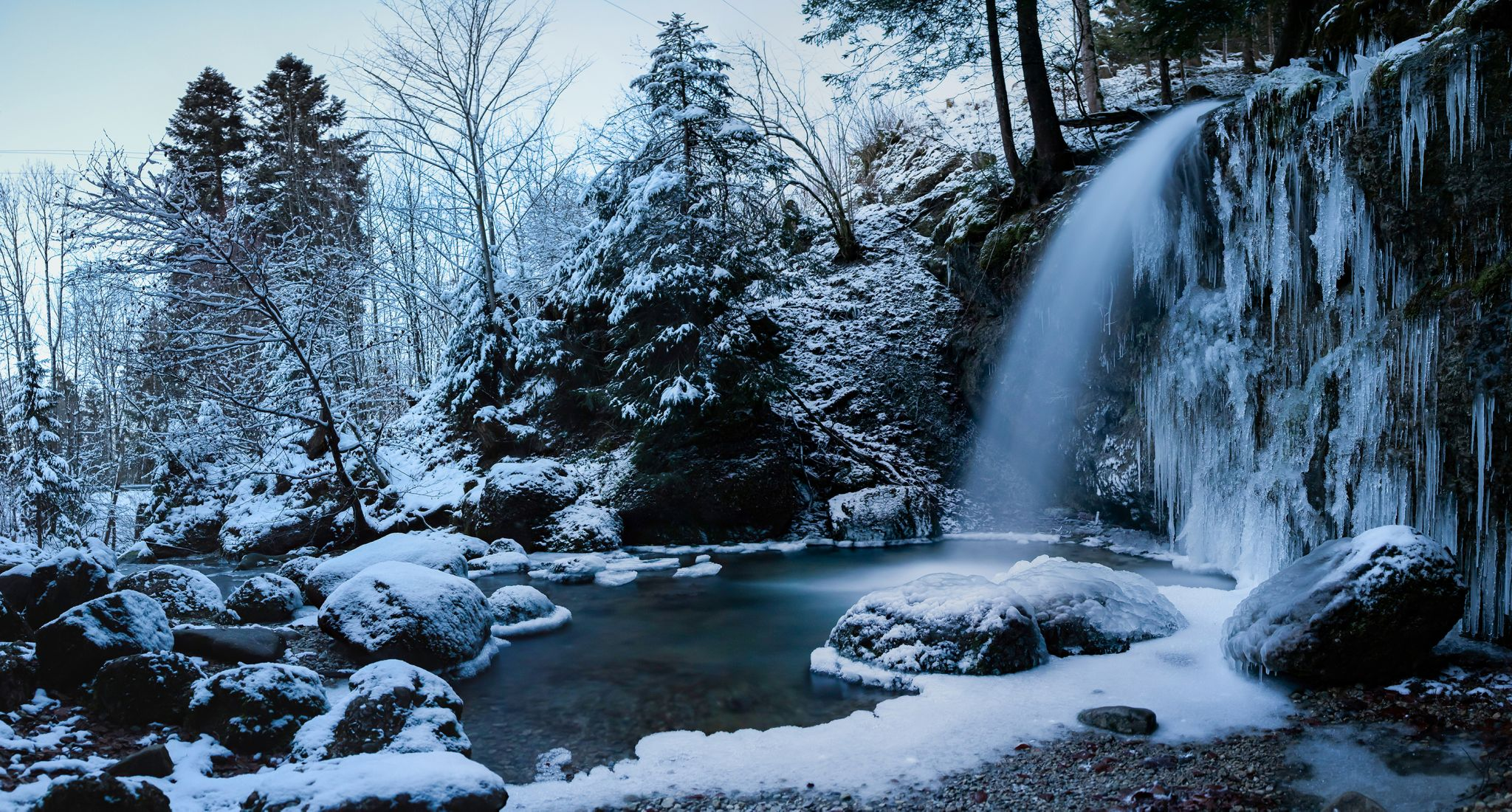 Upper Gschwender Waterfall, Germany