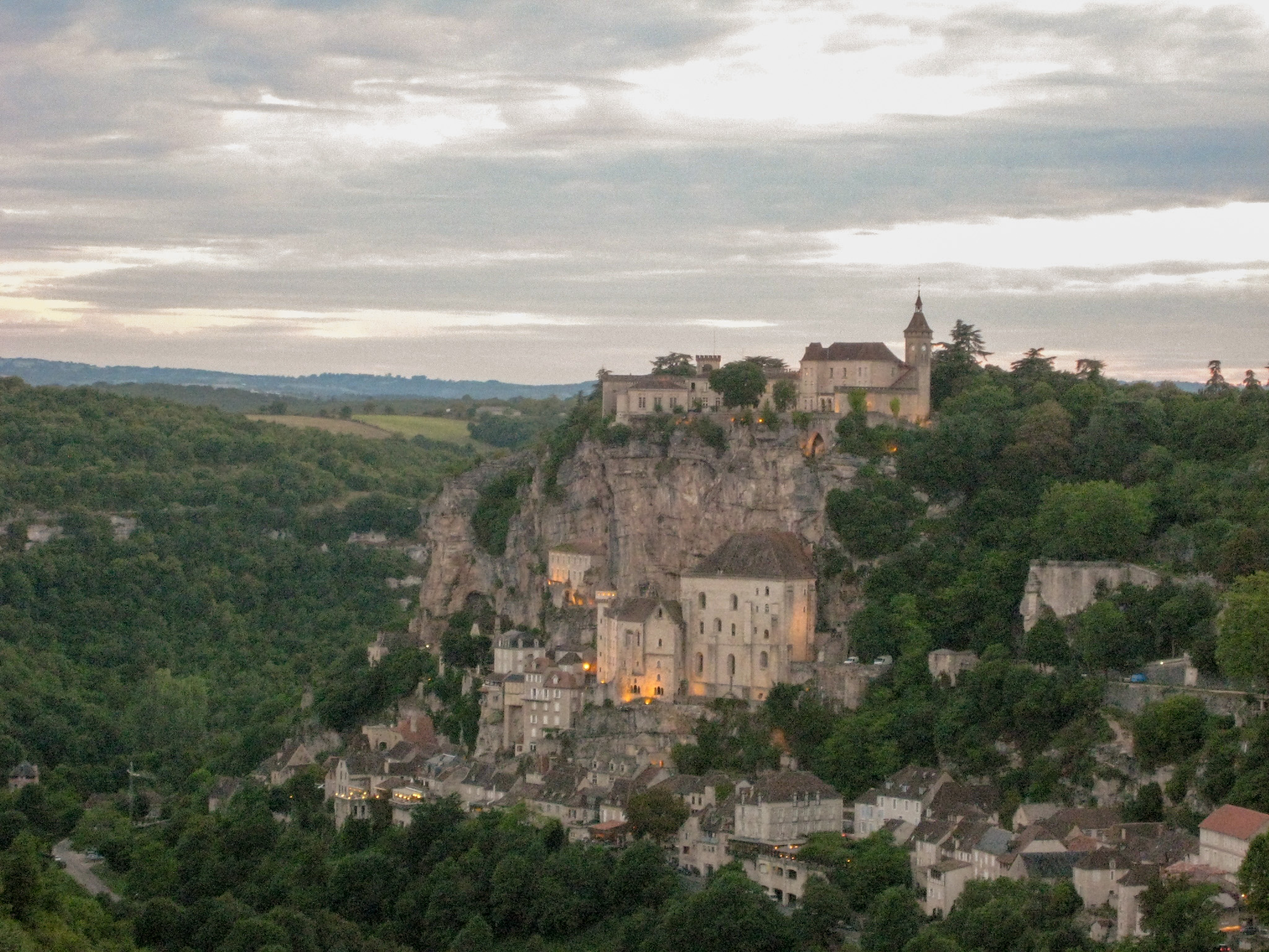 View of Rocamadour, France