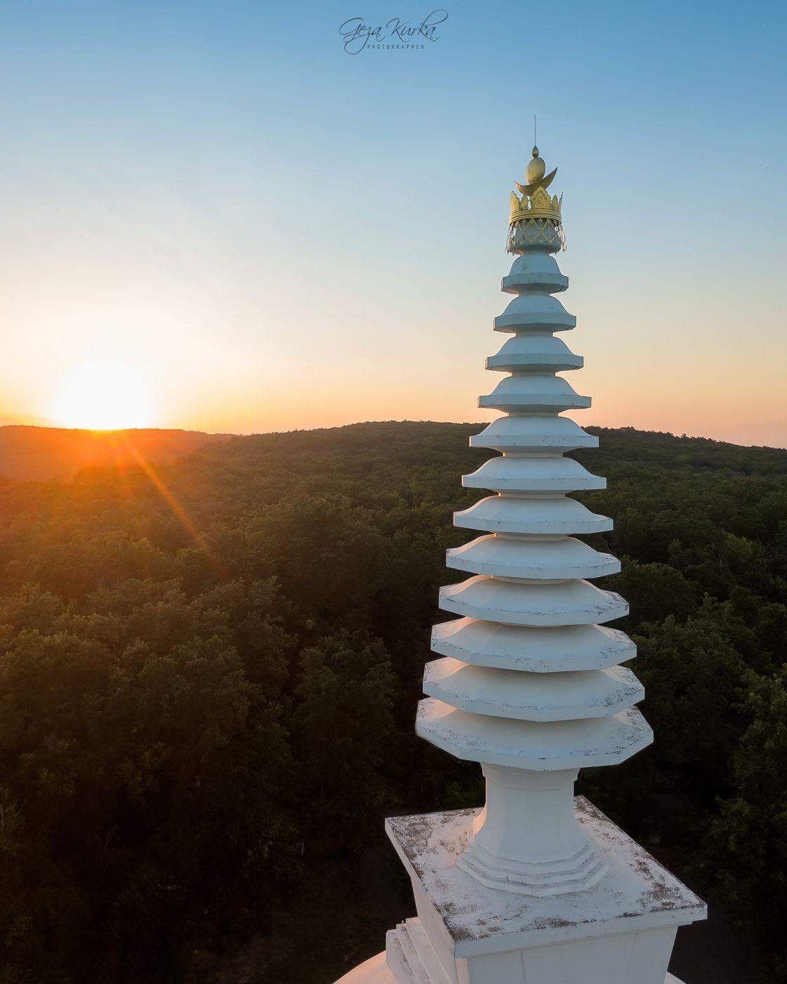 Zalaszanto's Buddhist stupa, Hungary