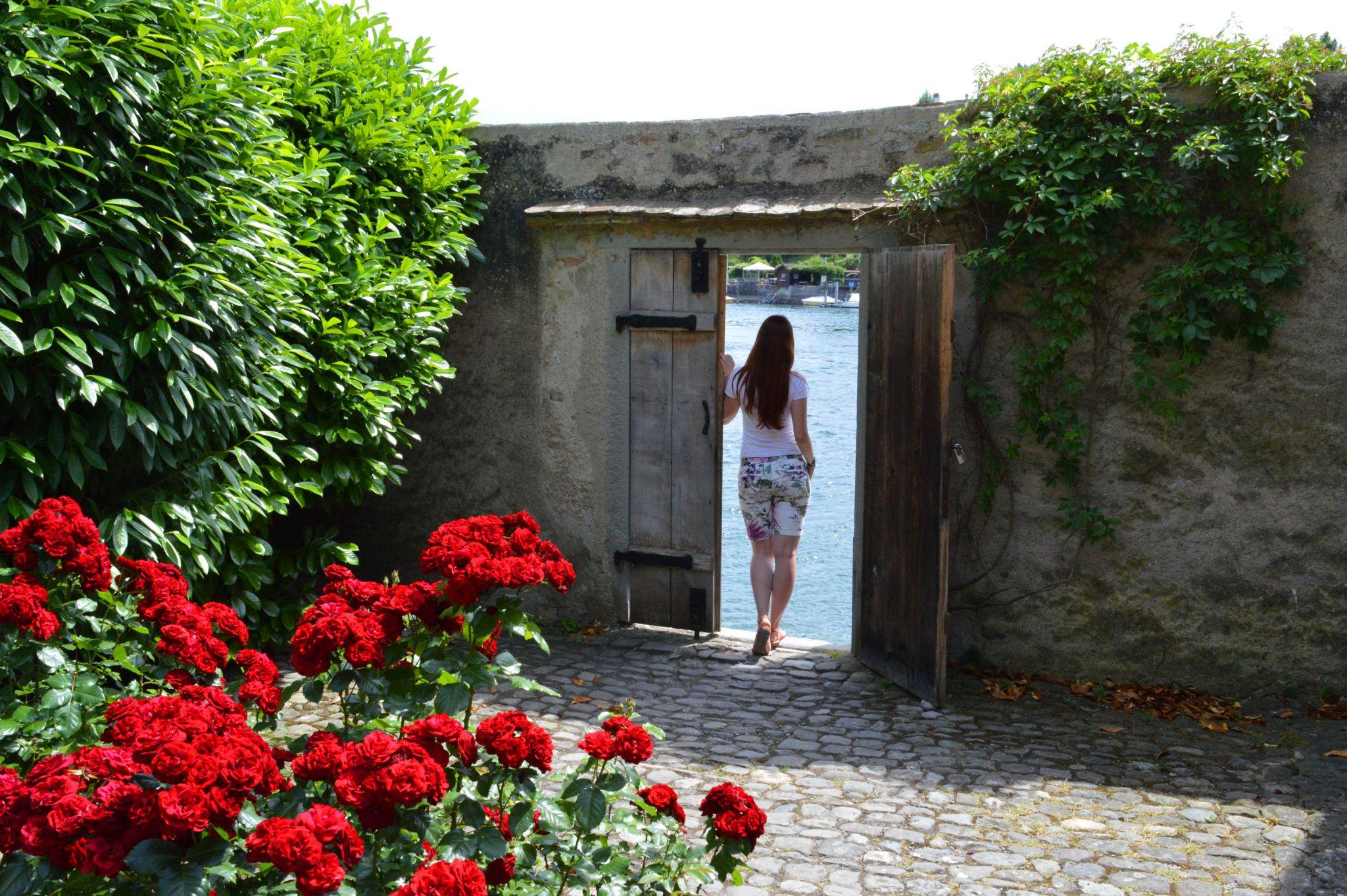 A door to the river in Stein am Rhein, Switzerland
