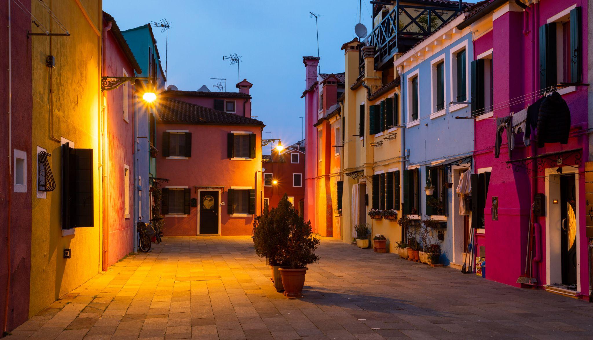 Abendstimmung auf Burano, Italy