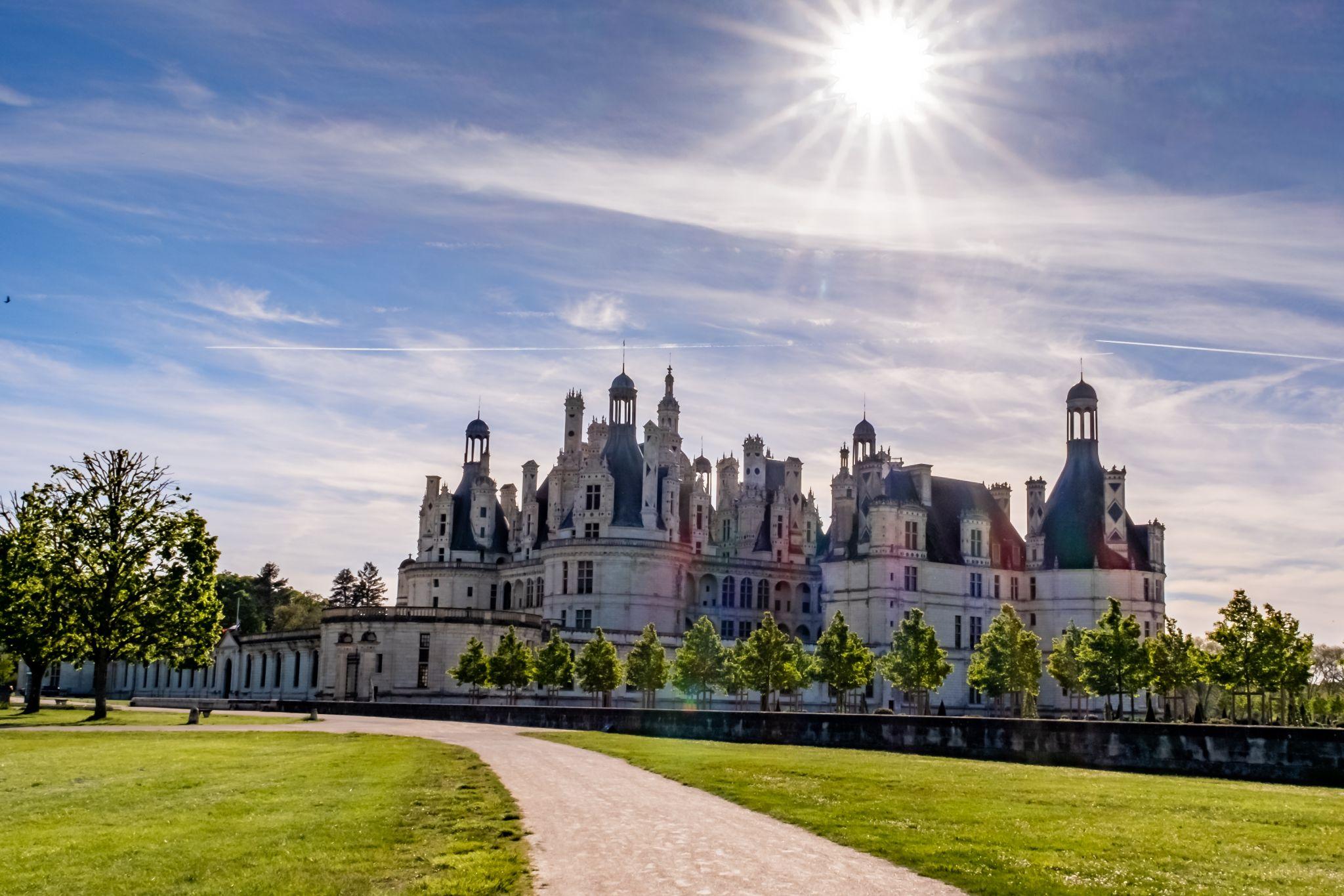 Alternate view of Chateau de Chambord, France