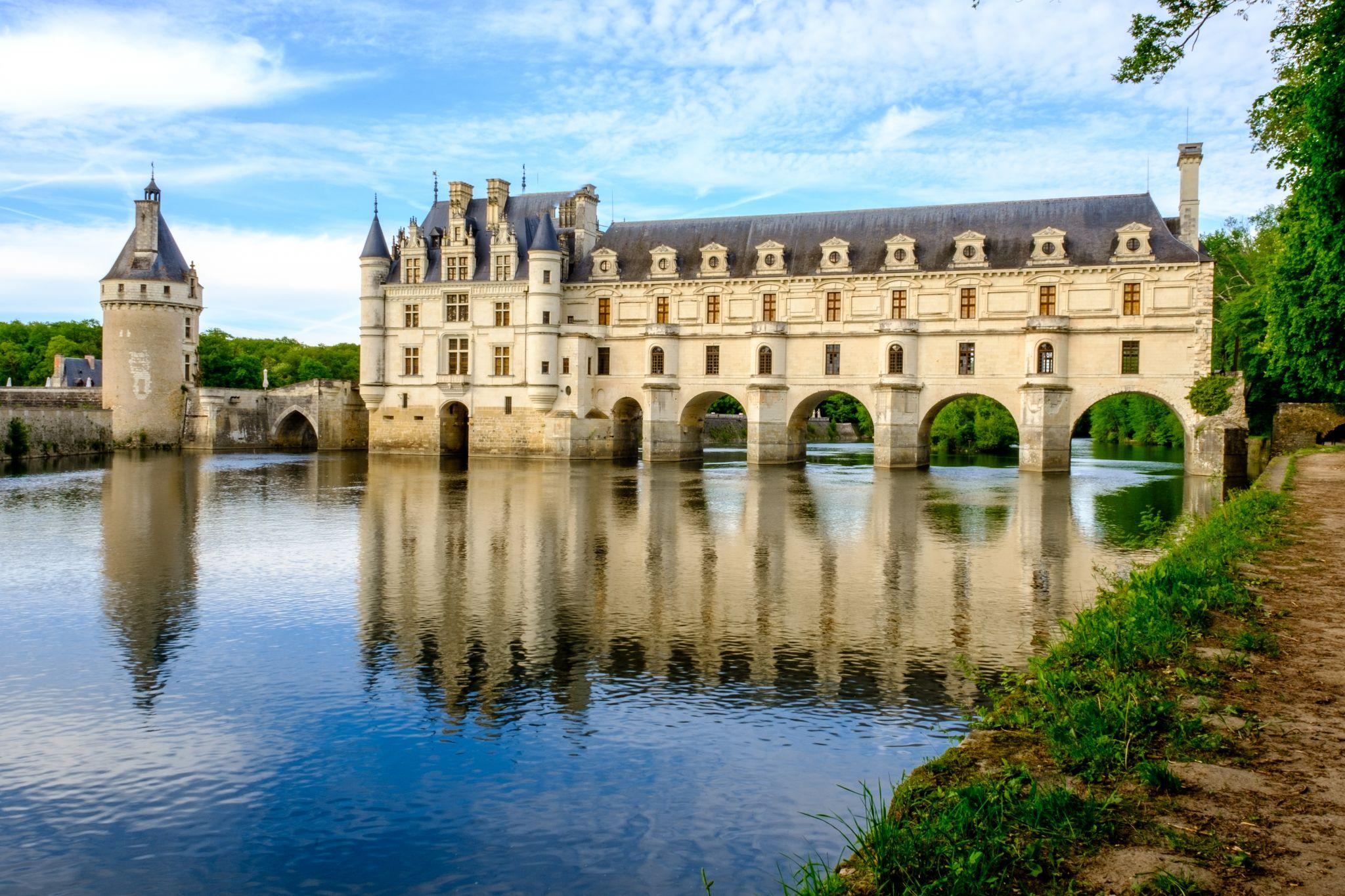 Beautiful view of Chateau de Chenonceau, France