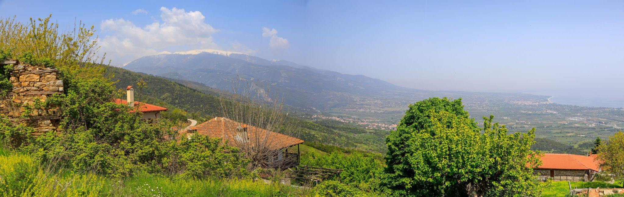 Blick auf dem Olymp von Panteleimonas, Greece