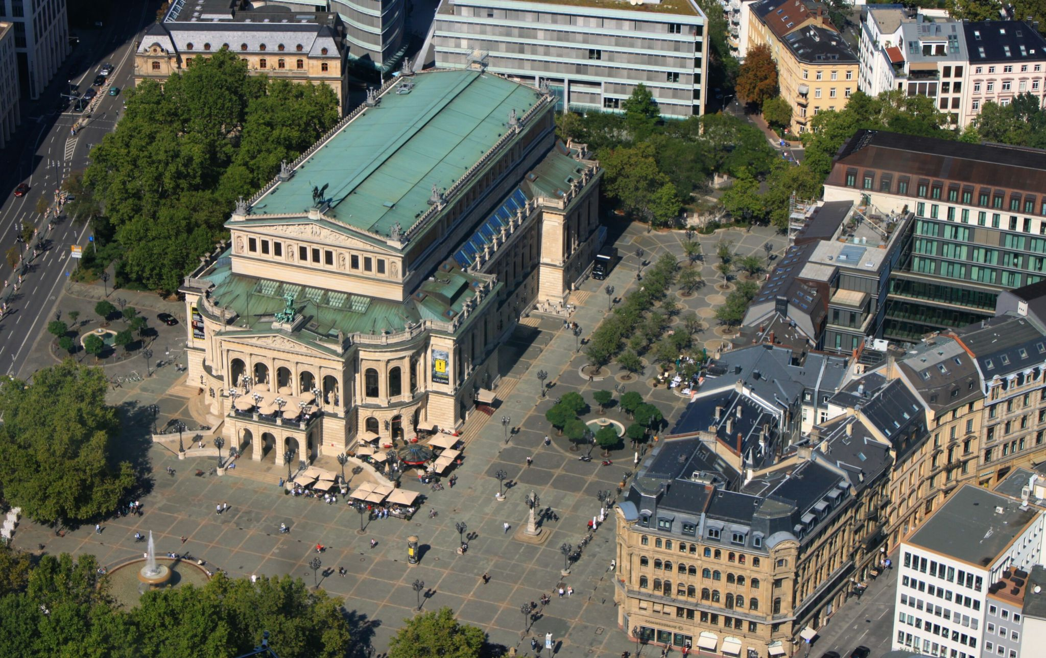 Blick vom Main Tower auf Frankfurt, Germany