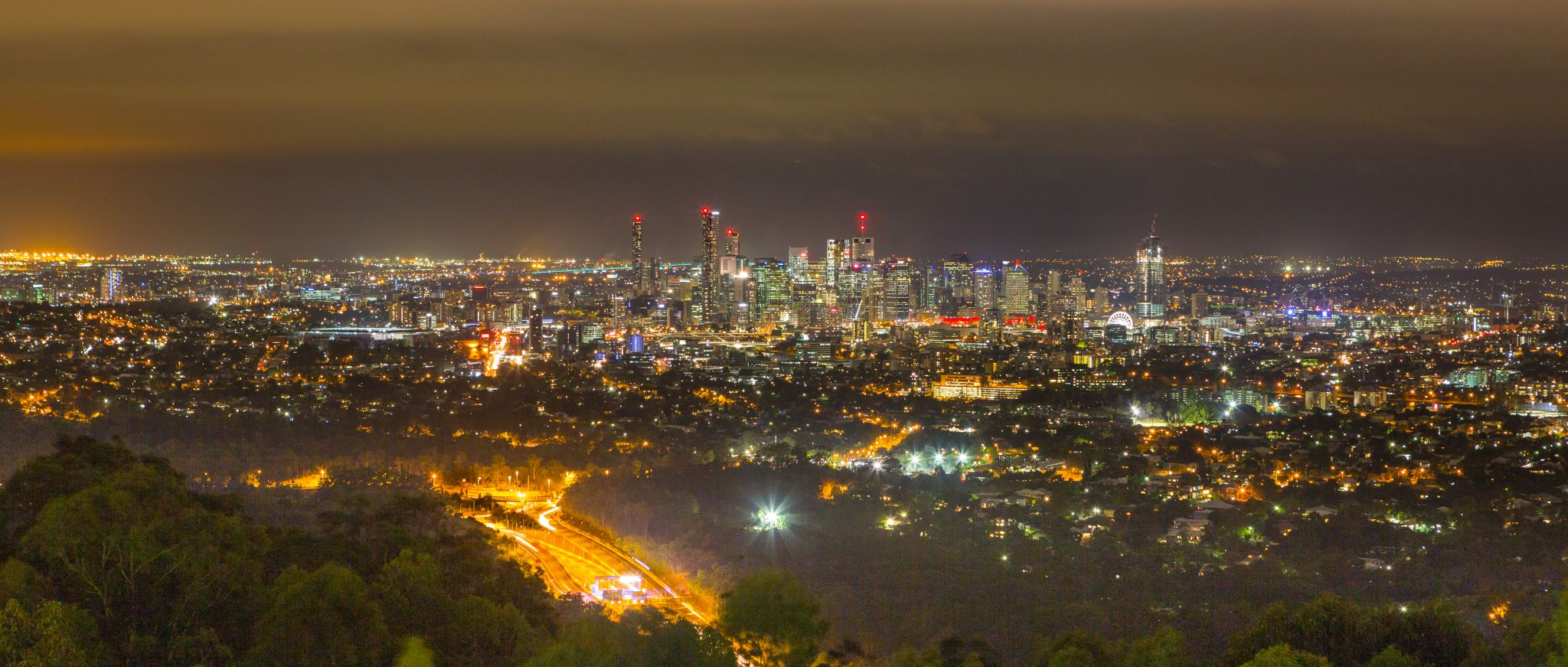 Brisbane skyline from Mt. Coot-tha, Australia
