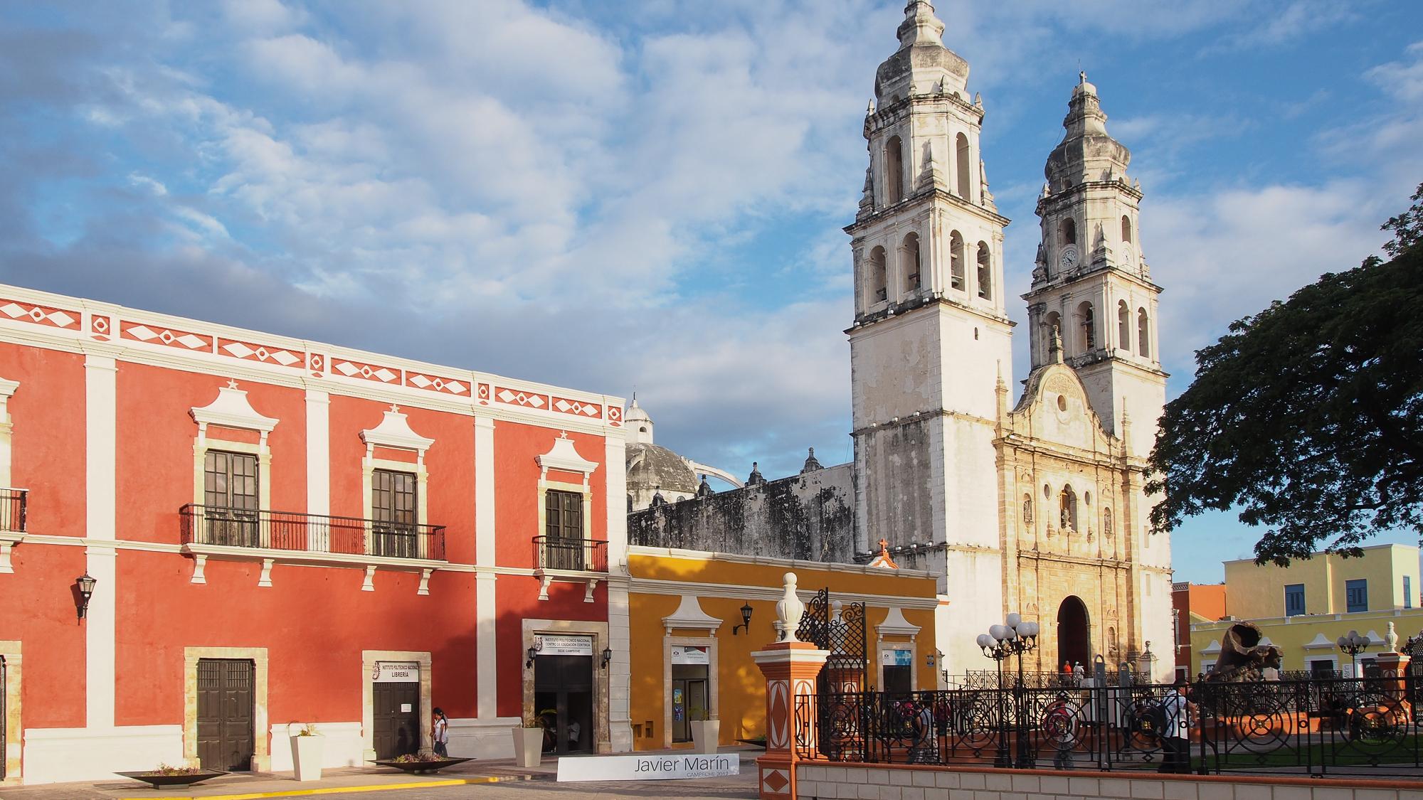 Campeche catedral, Mexico
