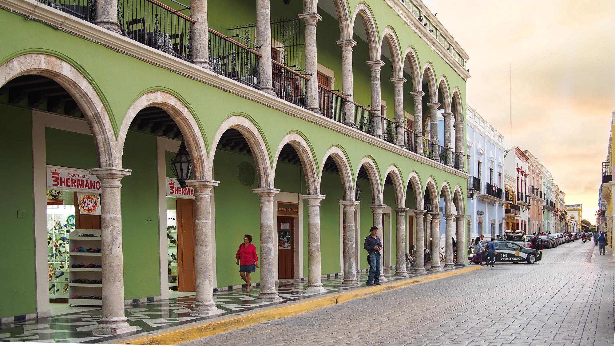 Campeche, streetview, Mexico