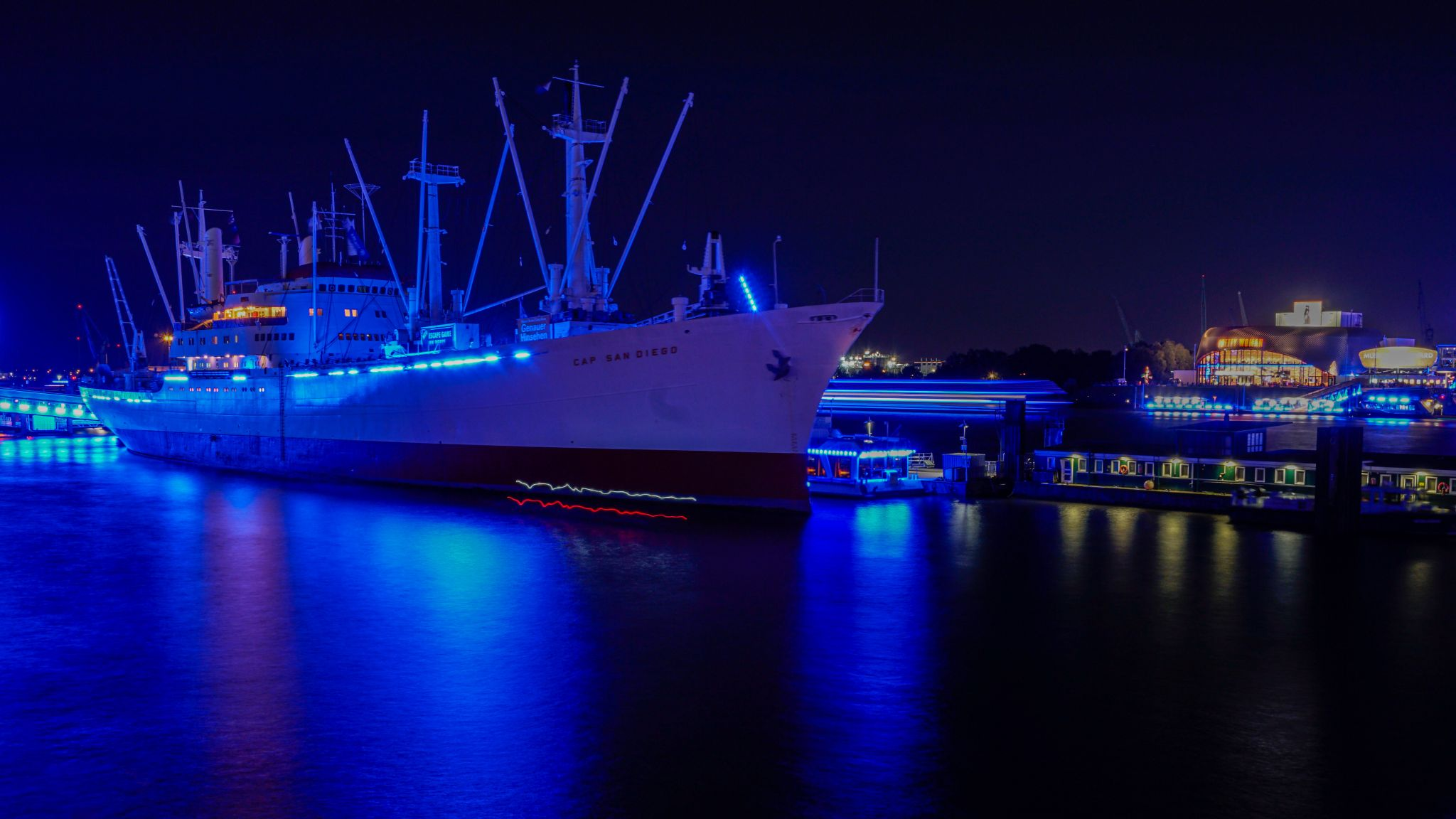 Cap San Diego, Hamburg harbour, Germany