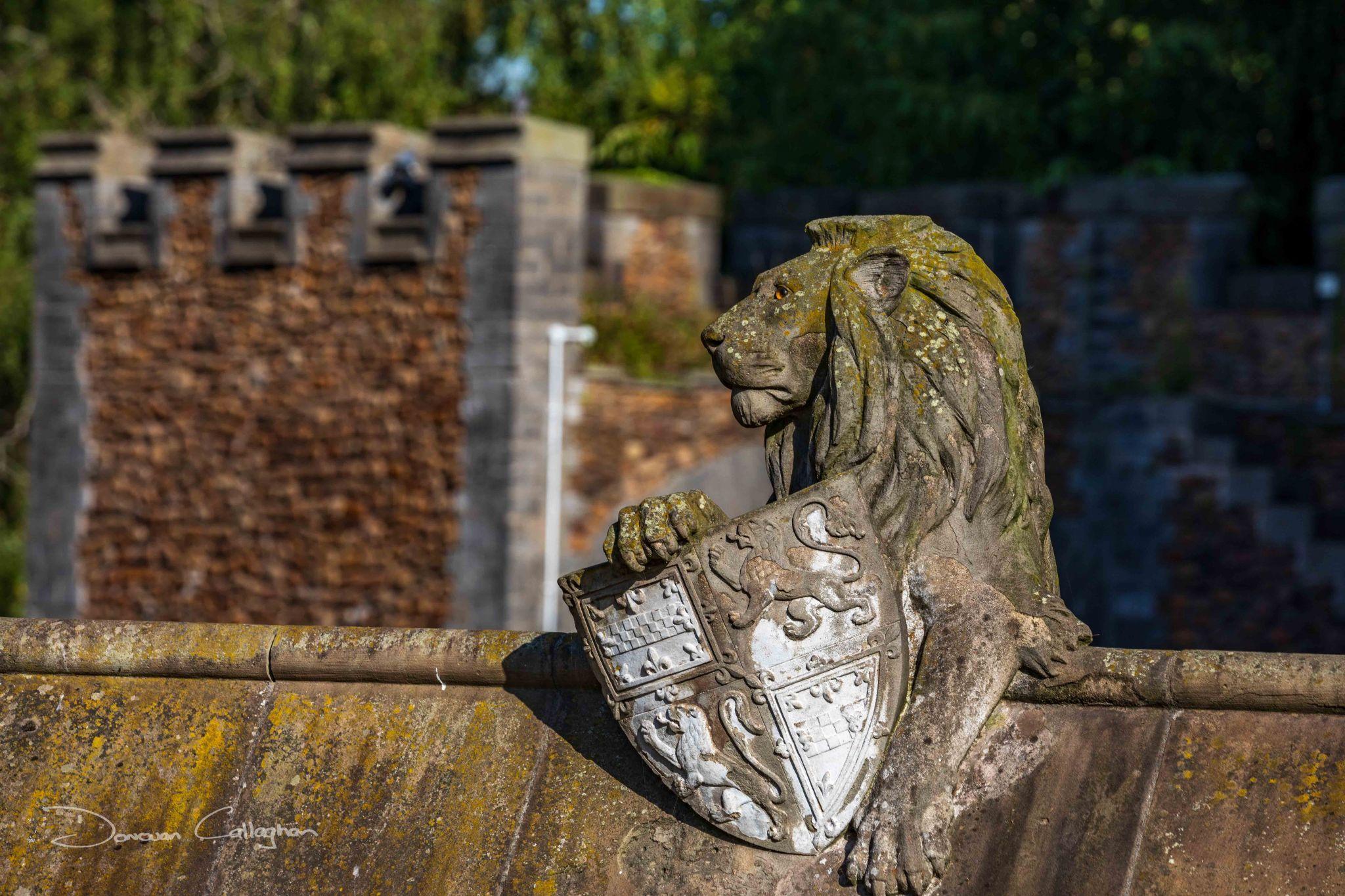 Cardiff Castle Lion on roof, Wales, United Kingdom