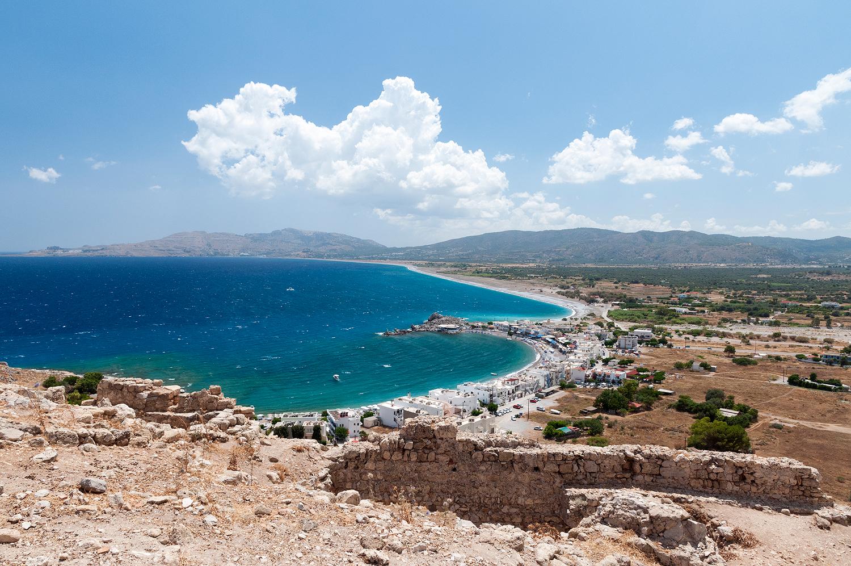 Feraklos Castle ruins, Landscape and Seascape panoramas, Greece