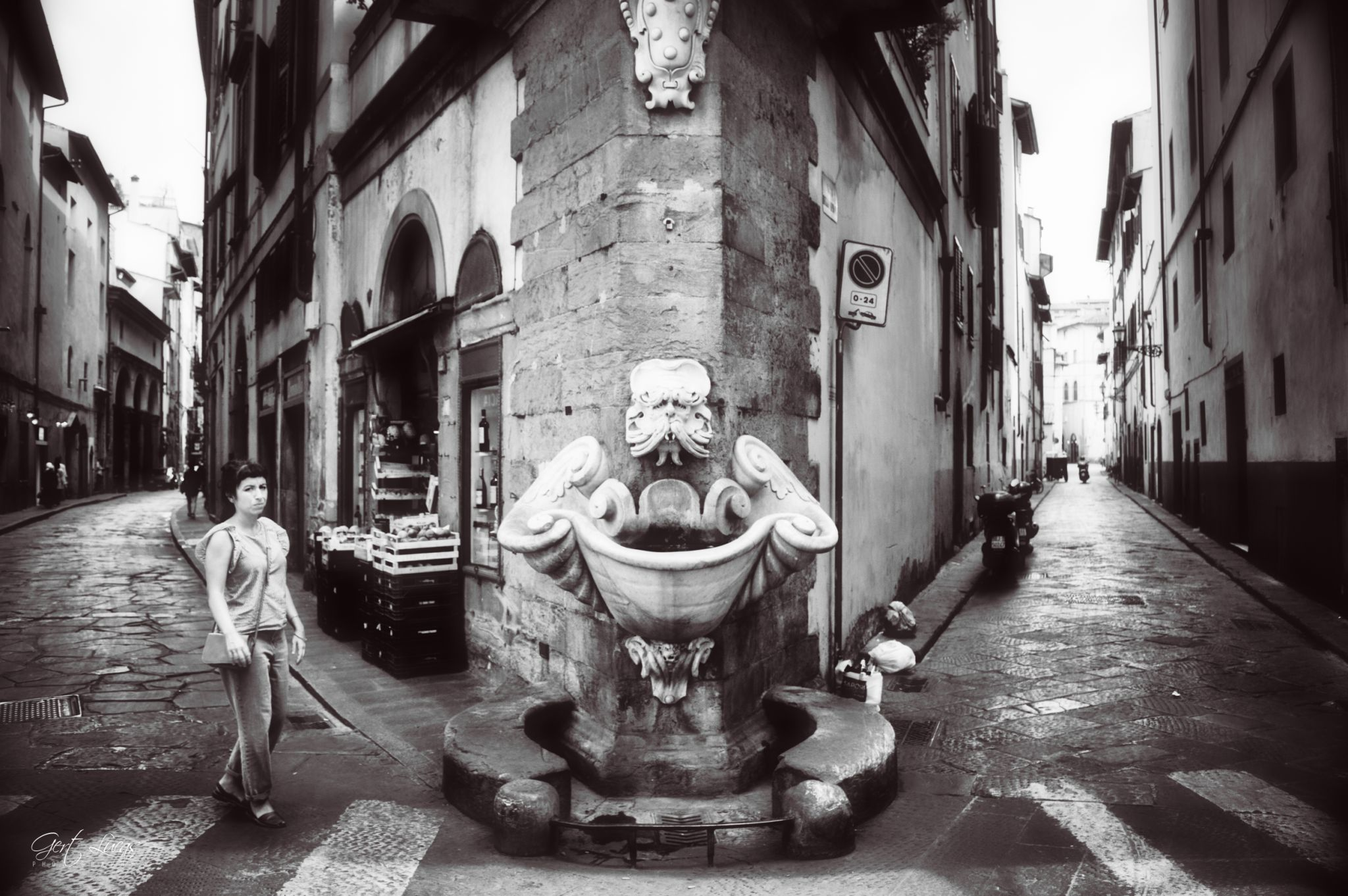 Firenze - Fontana della Sprone, Italy