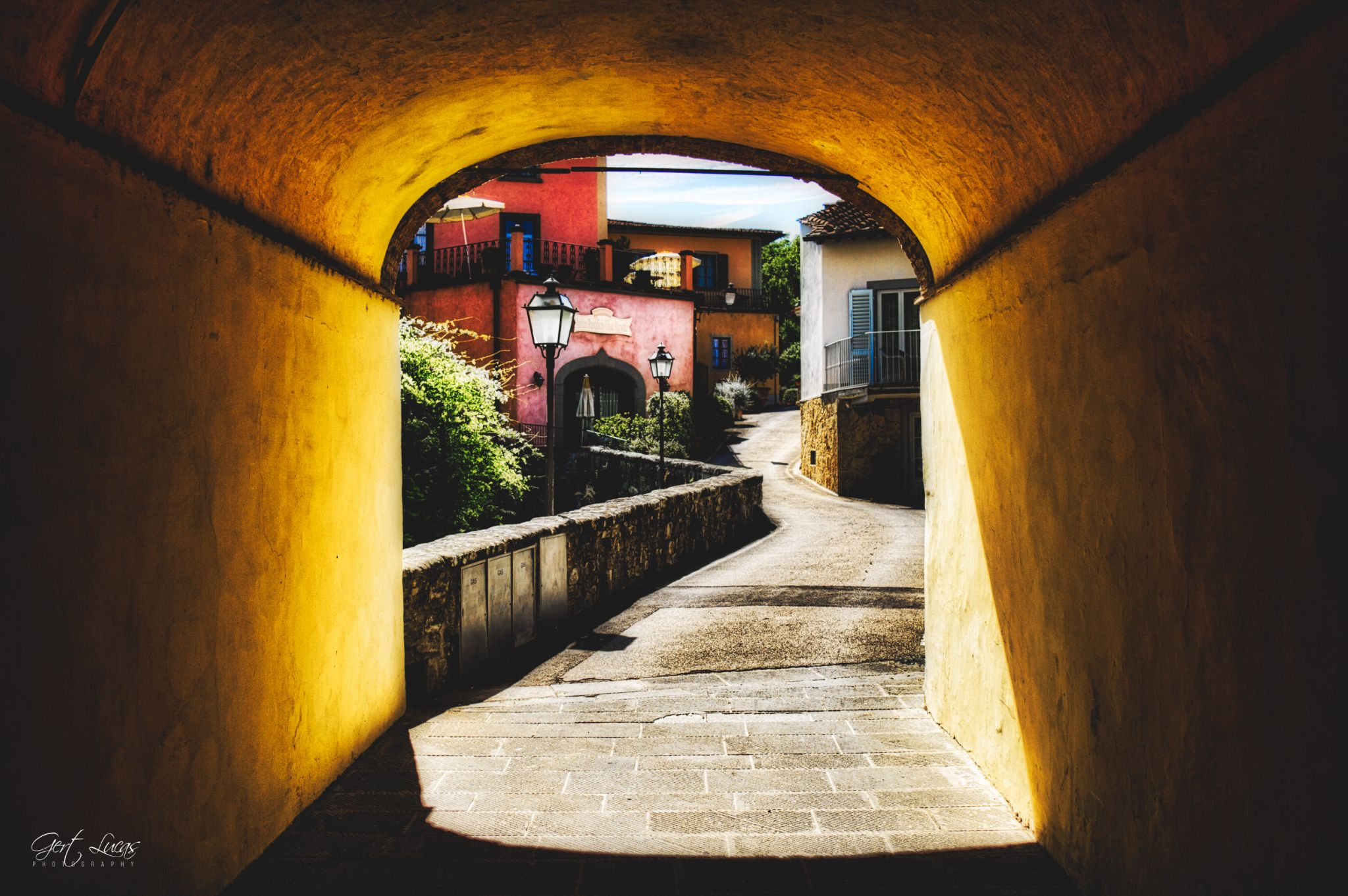 Greve - alley, Italy