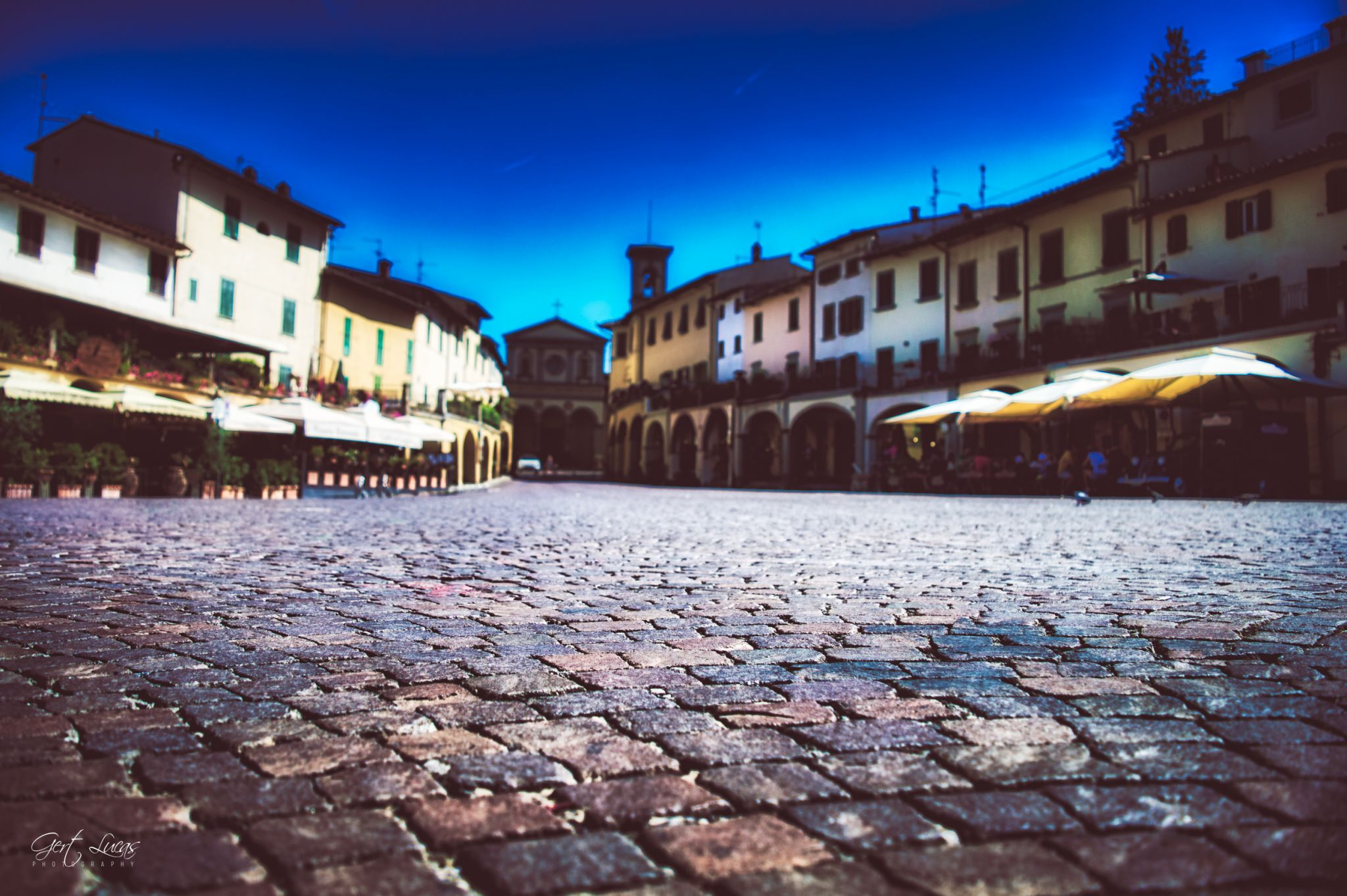 Greve - townsquare, Italy