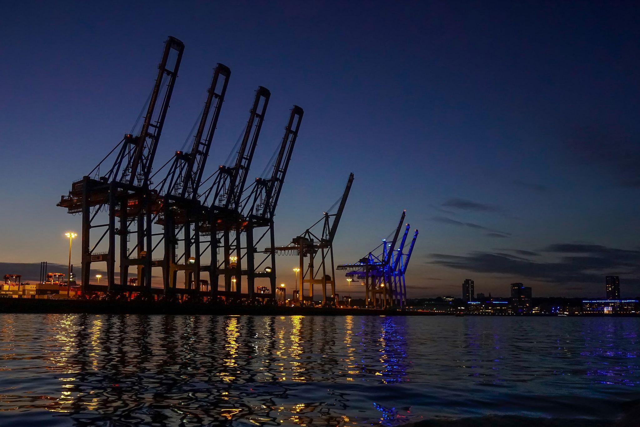 Hamburg Containerterminal Tollerort, Germany