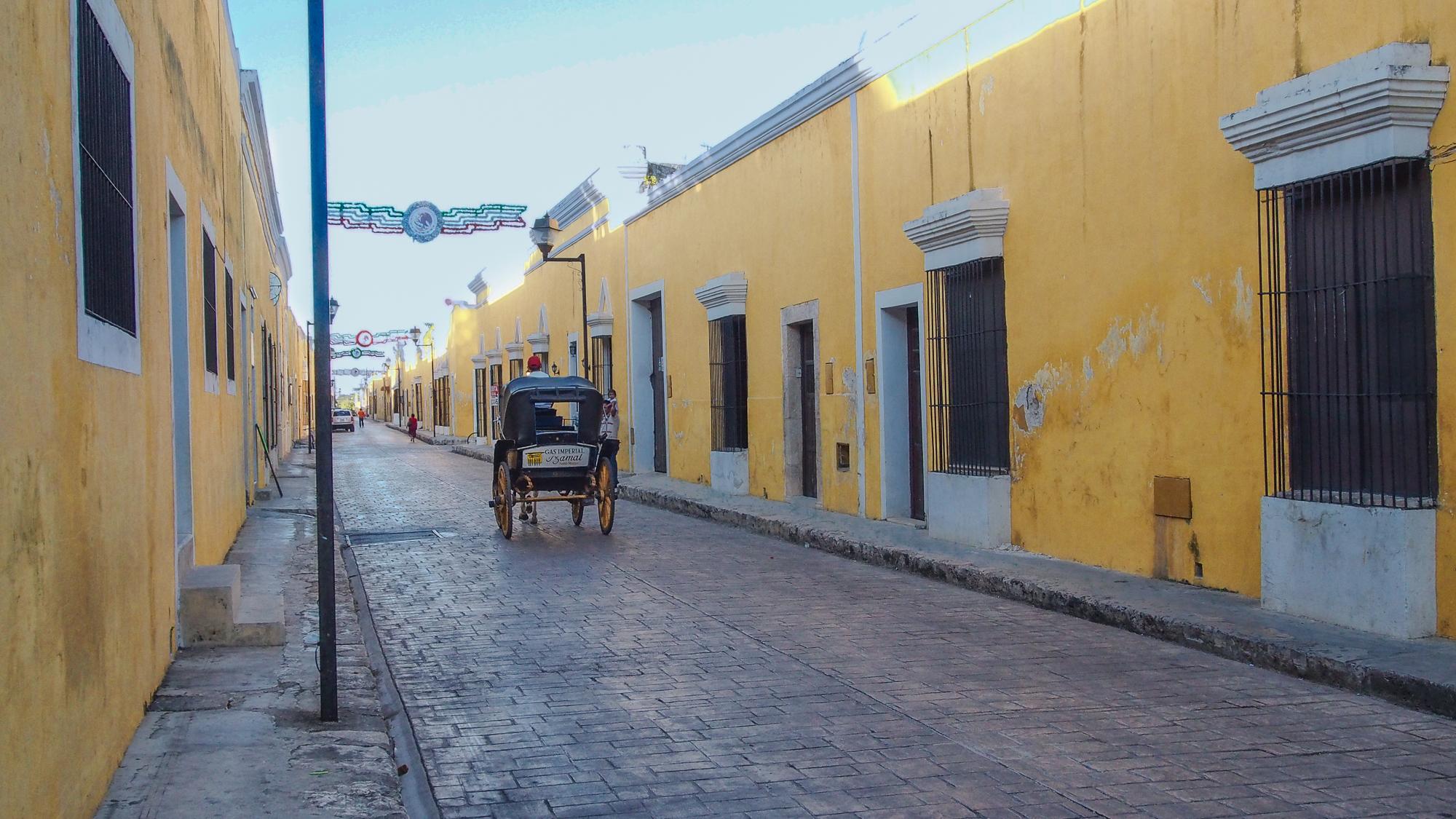Izamal streets, Mexico