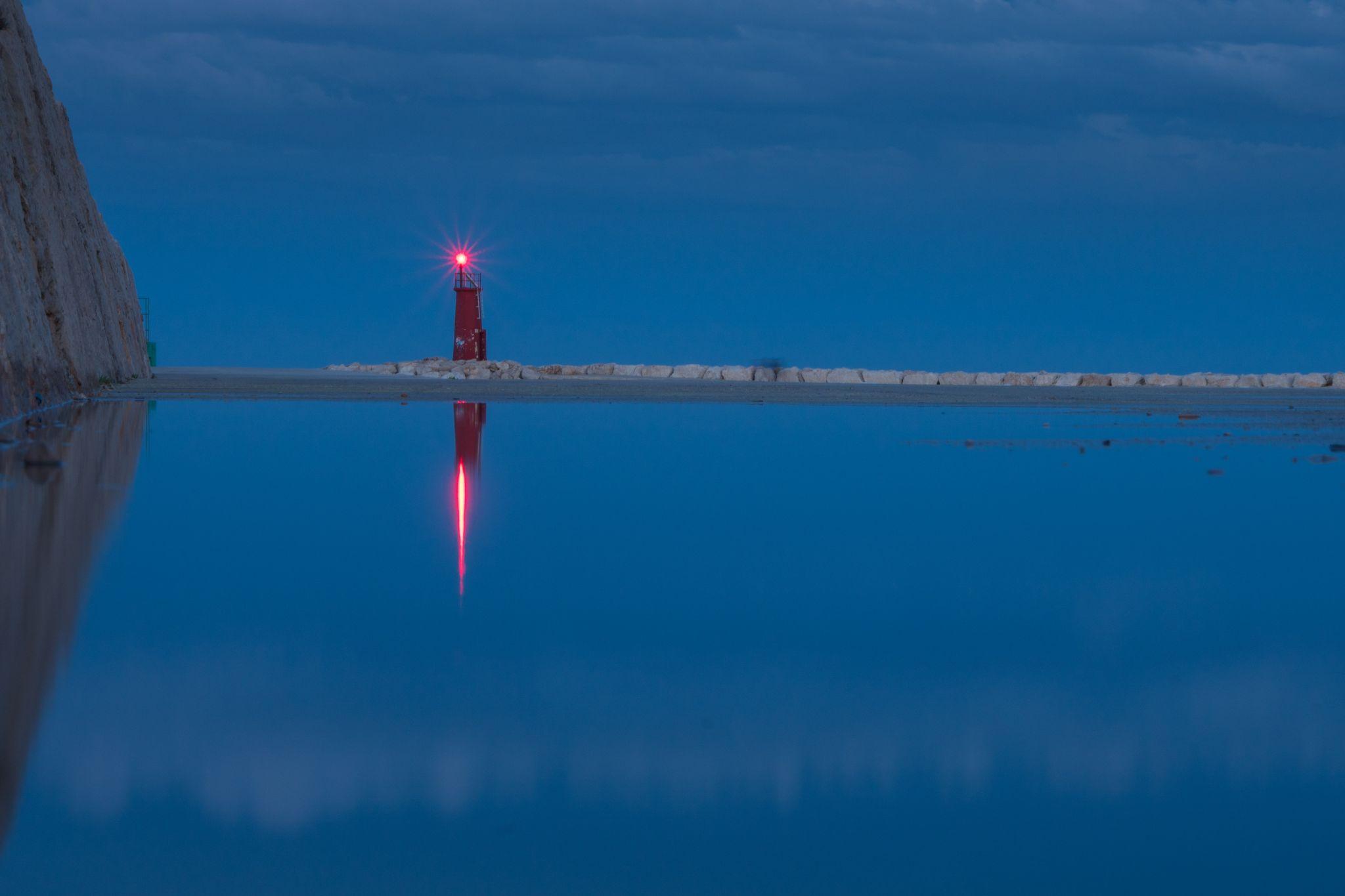Lighthouse, Denià harbour, Spain