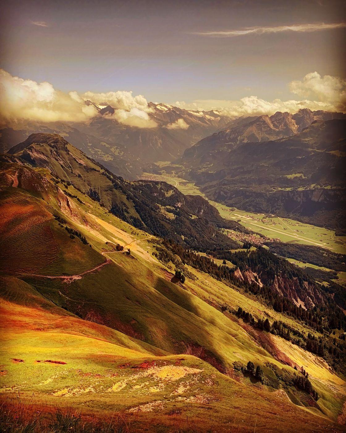 Mountains and Valleys near Rothorn, Switzerland