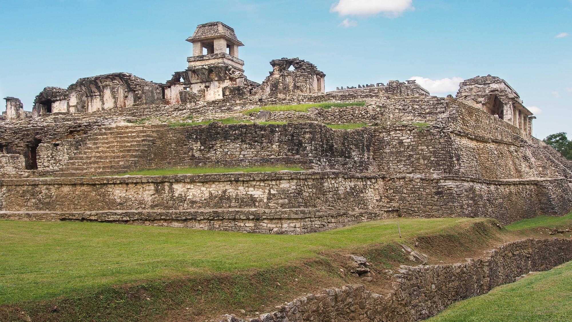 Palenque castillo, Mexico