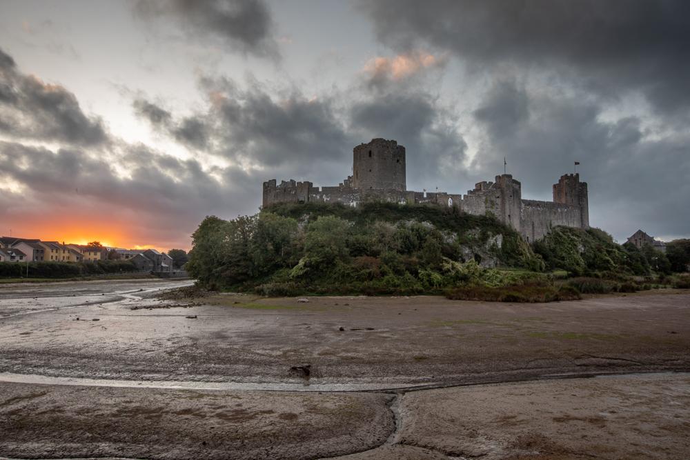 Pembroke Castle Sunrise Wales, United Kingdom