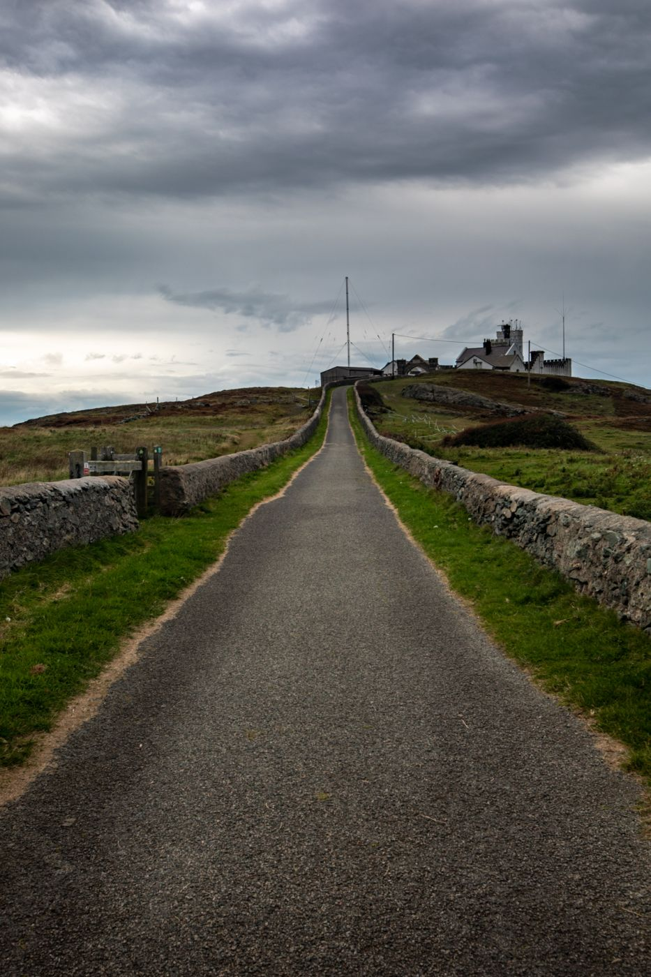 Point Lynas Lighthouse road leading to the Lighthouse Wales, United Kingdom