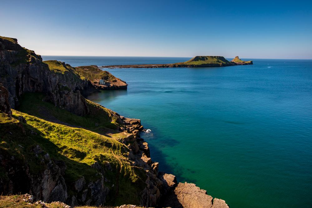 Rhossili headland Wales, United Kingdom