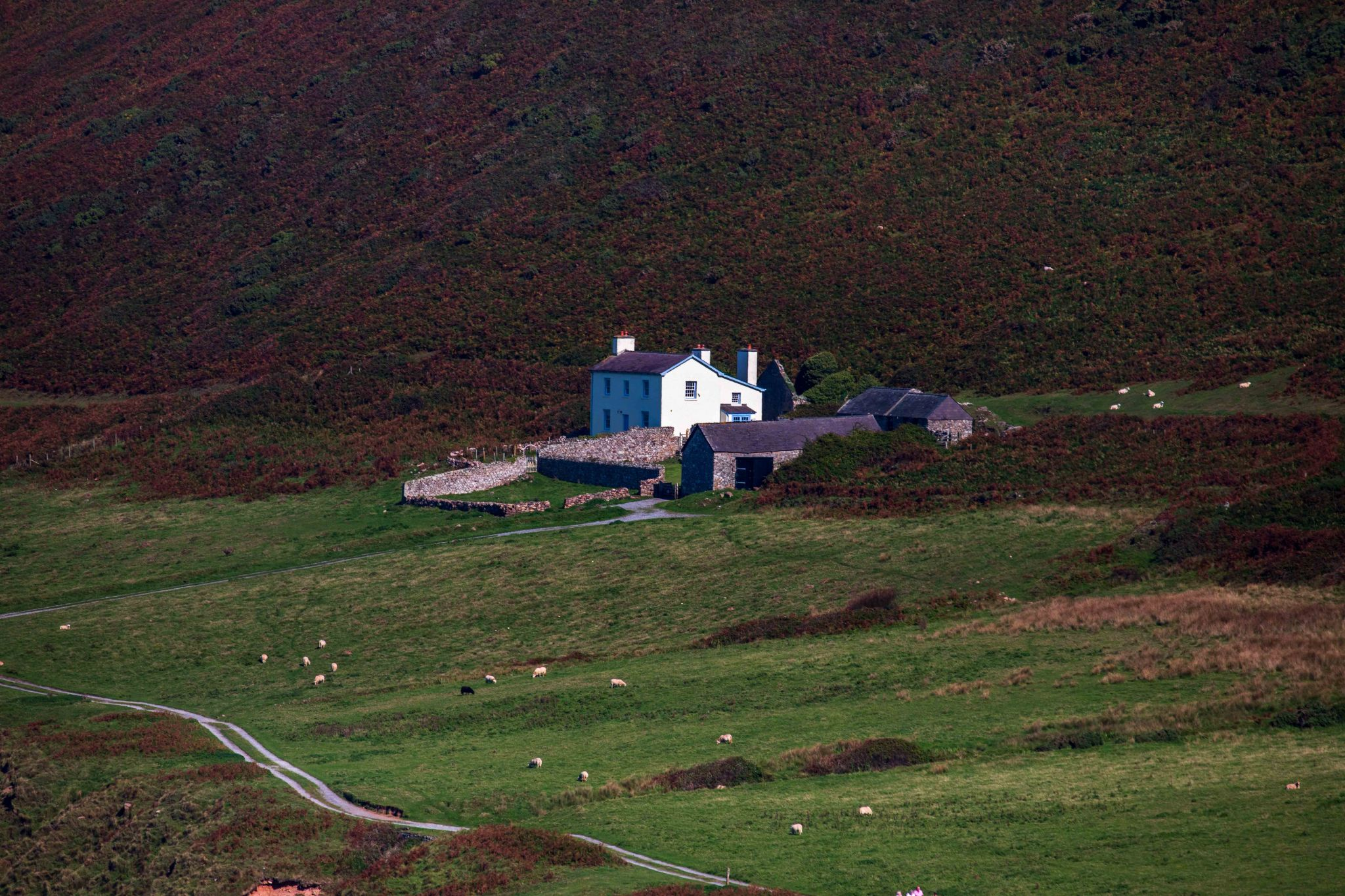 Rhossili, house near the beach  County of Swansea Wales, United Kingdom