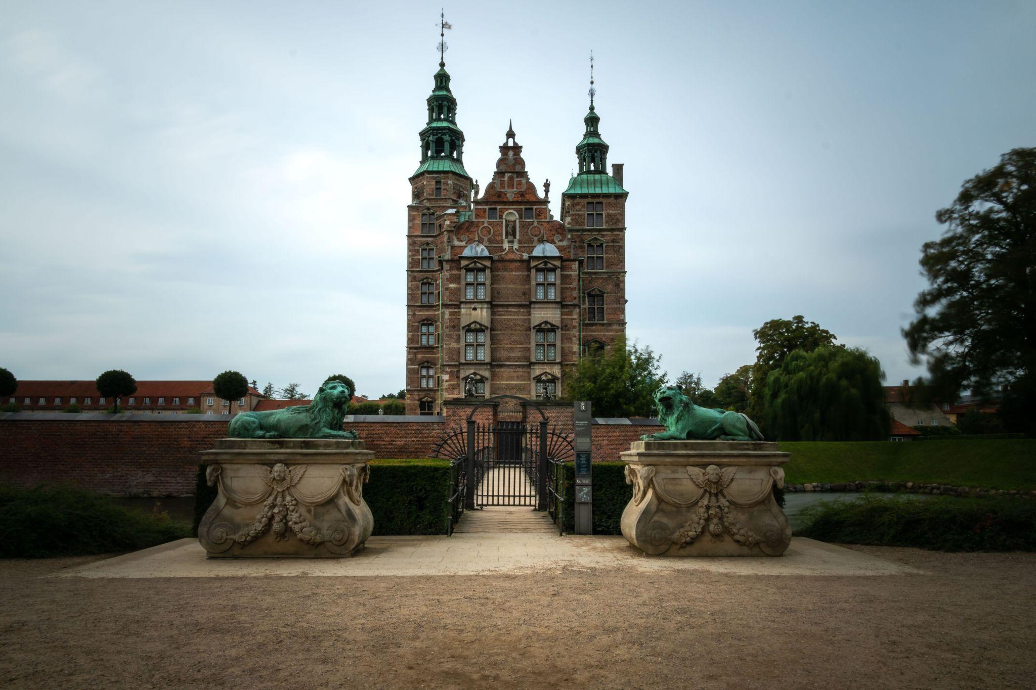 Rosenborg Castle front view, Denmark