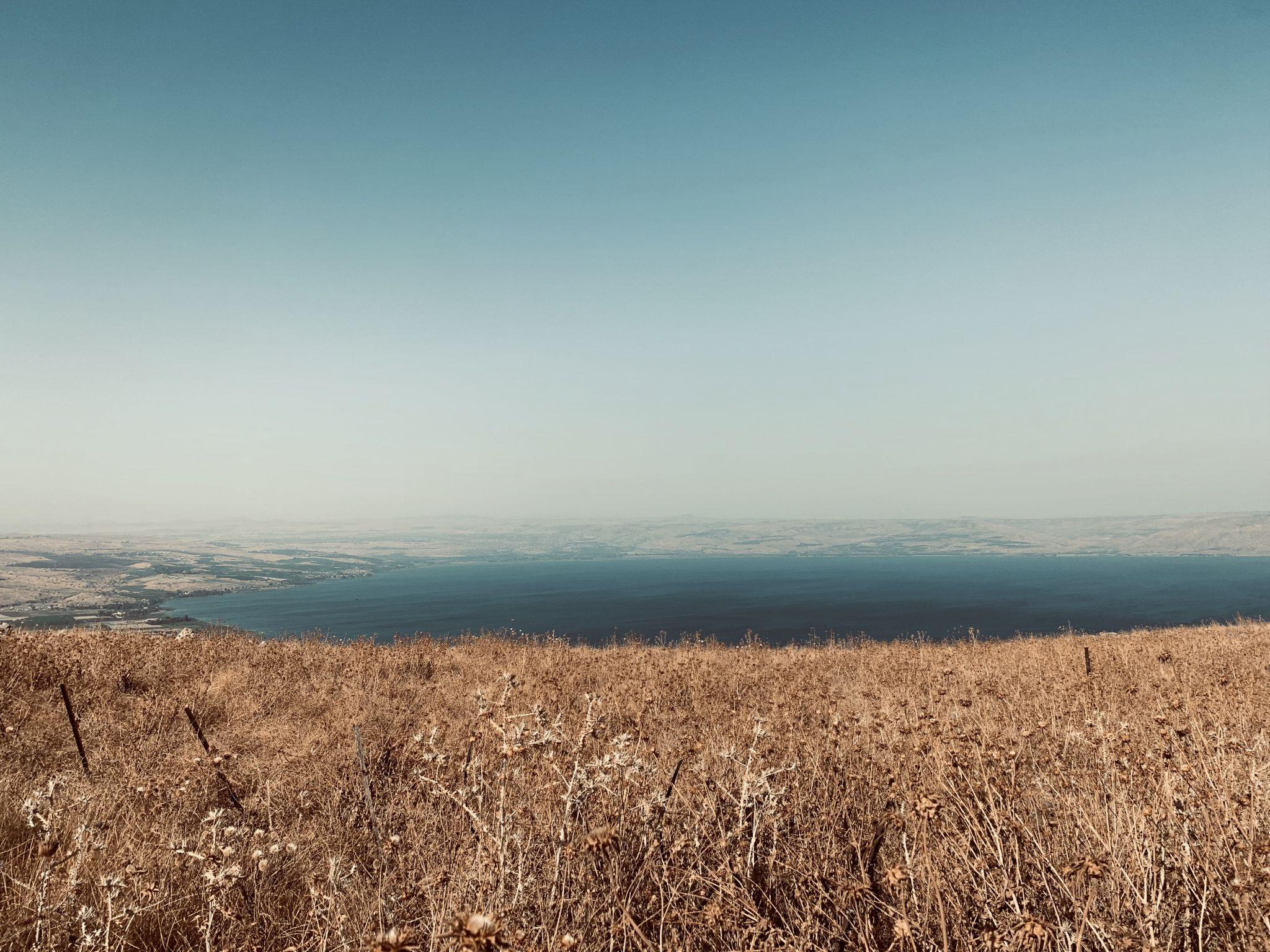 Sea of Galilea, view from Mount Arbel, Israel